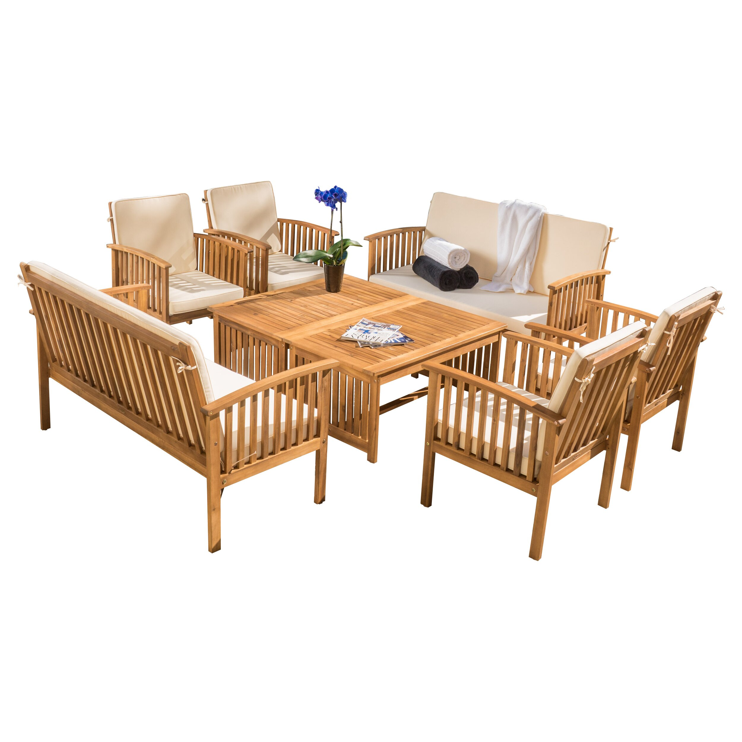 Home Loft Concepts Dakota 8 Piece Seating Group With