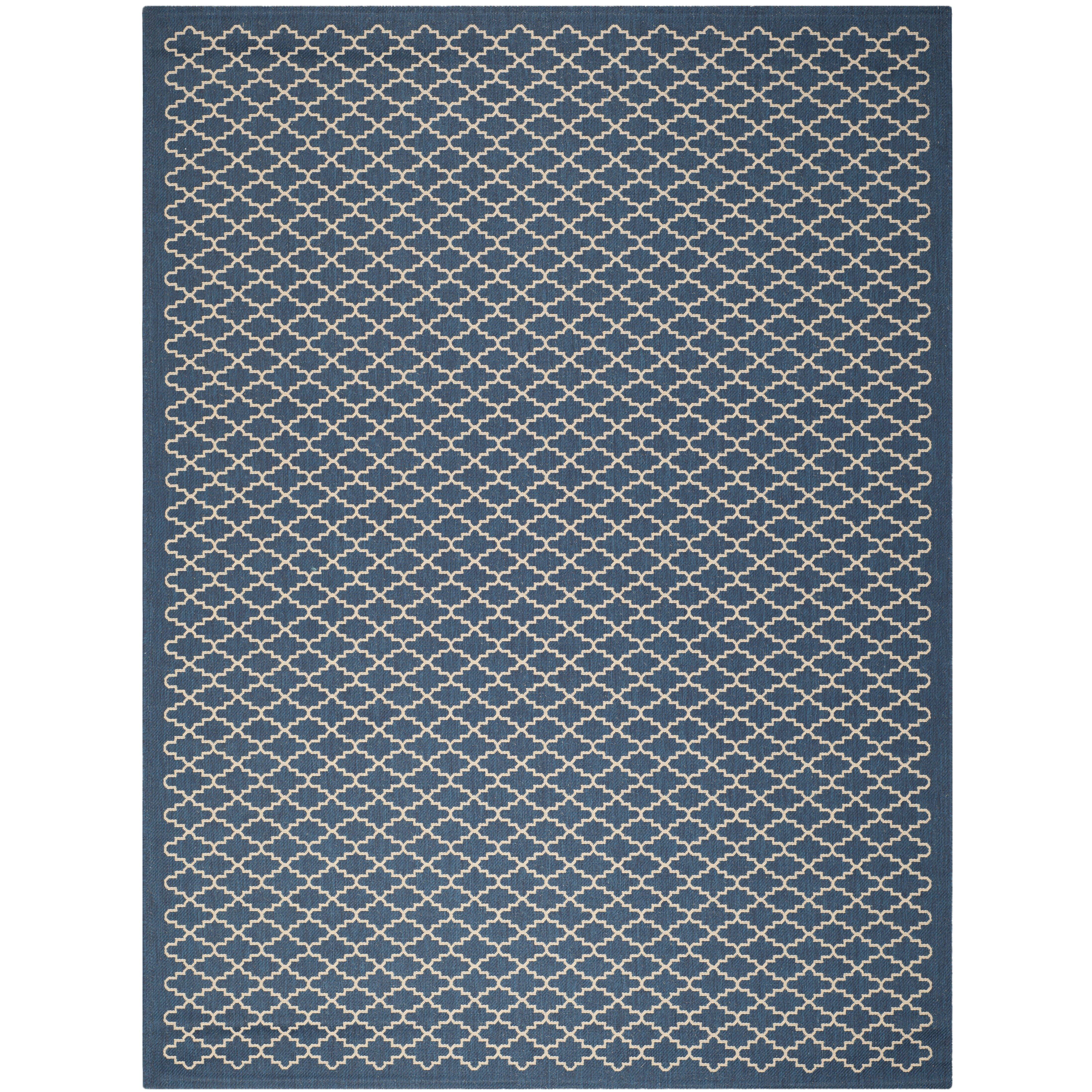 Safavieh courtyard navy indoor outdoor area rug reviews for Indoor outdoor rugs uk
