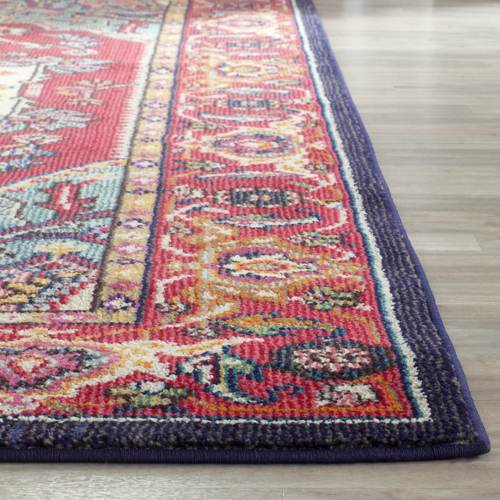 safavieh monaco emiliana red turquoise area rug reviews wayfair uk. Black Bedroom Furniture Sets. Home Design Ideas