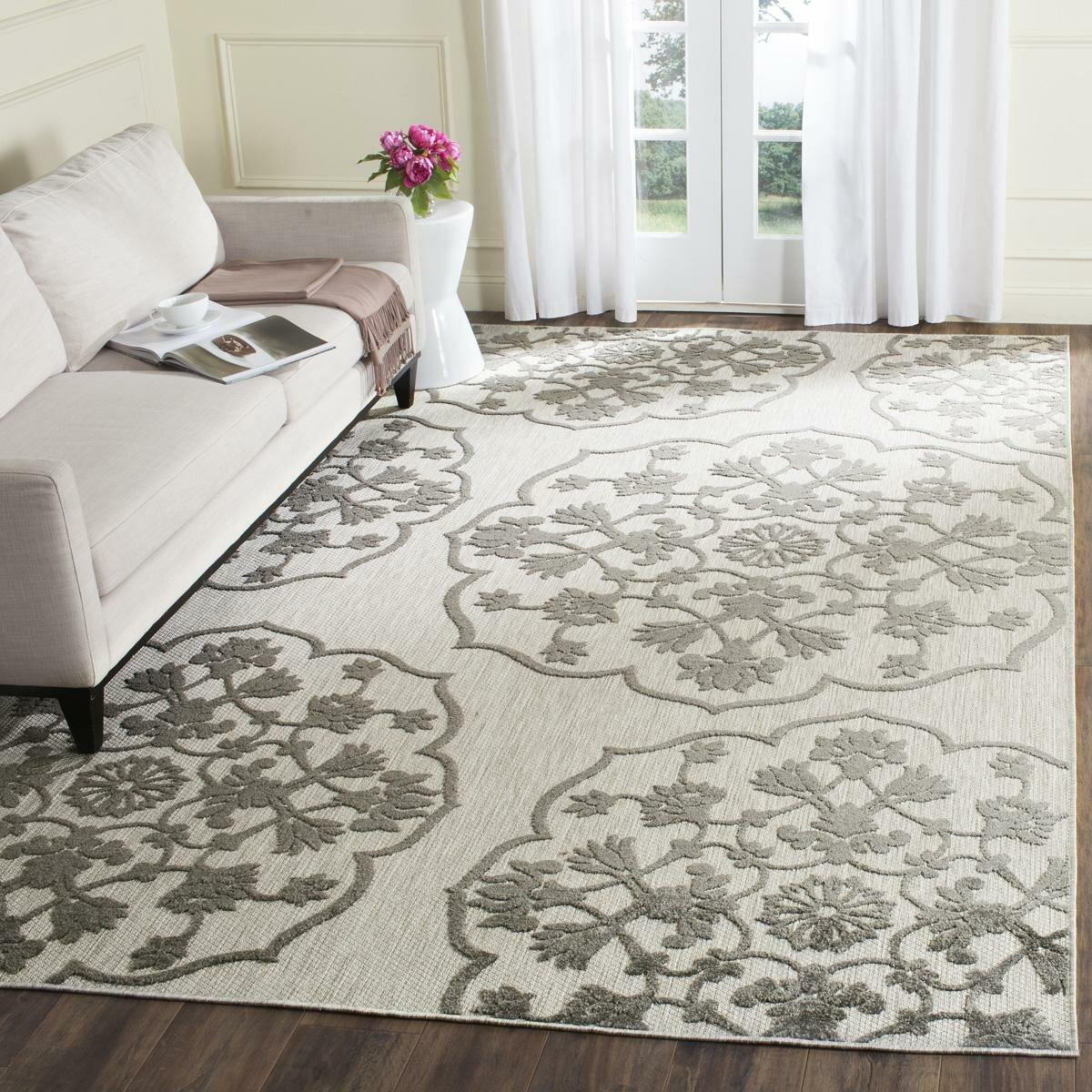 Safavieh wellington cream grey indoor outdoor area rug for Indoor outdoor rugs uk