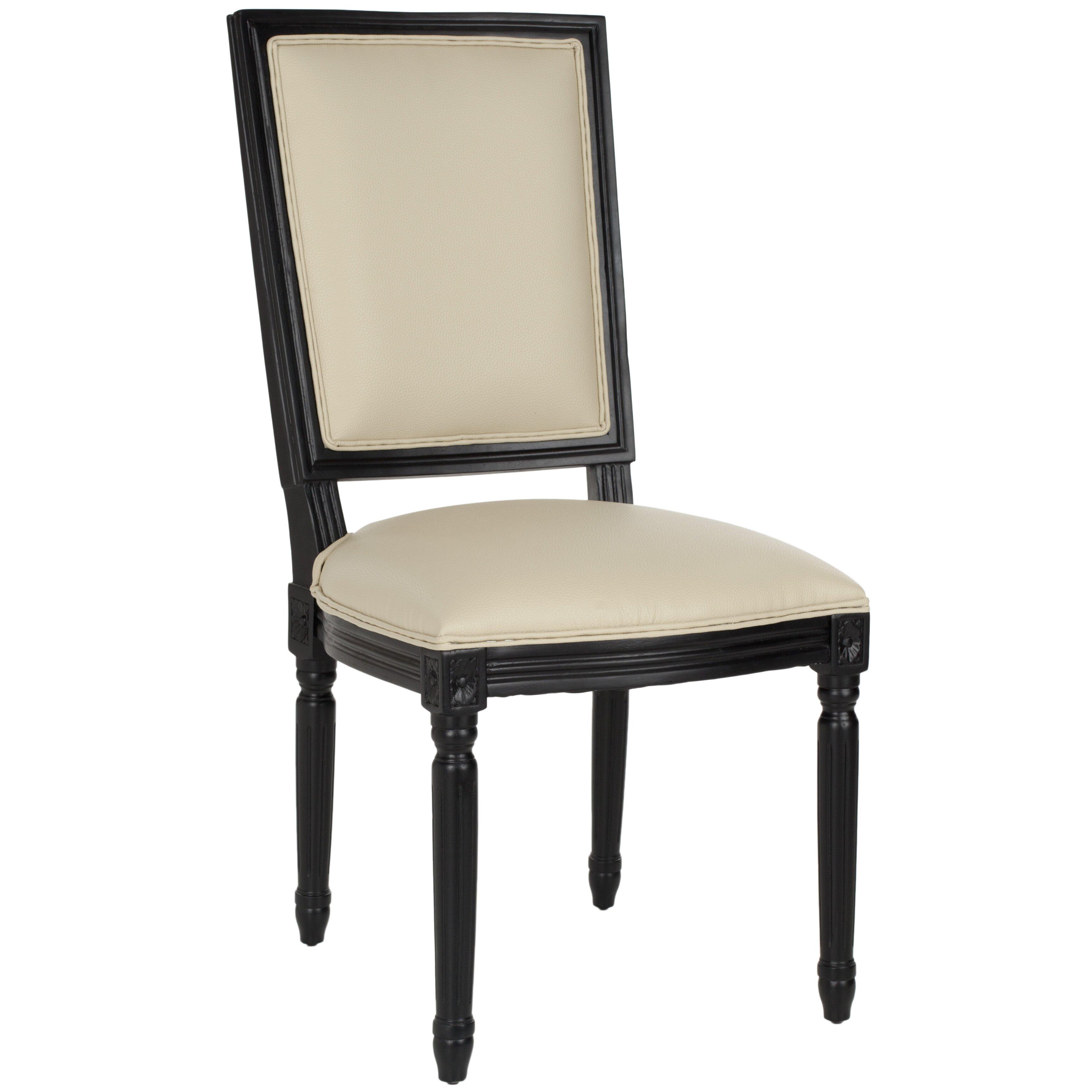 safavieh solid oak upholstered dining chair wayfair uk