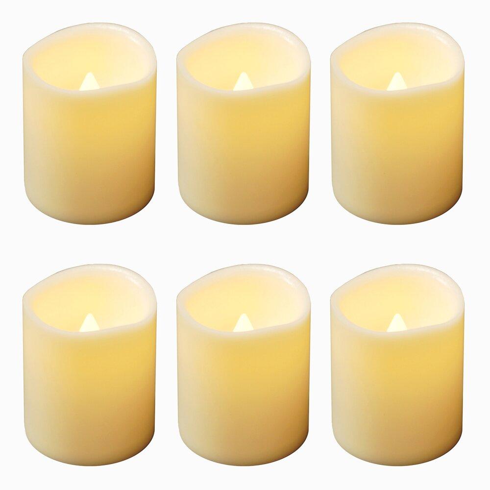 LumaBase Battery Operated Mini Pillar Candle & Reviews | Wayfair