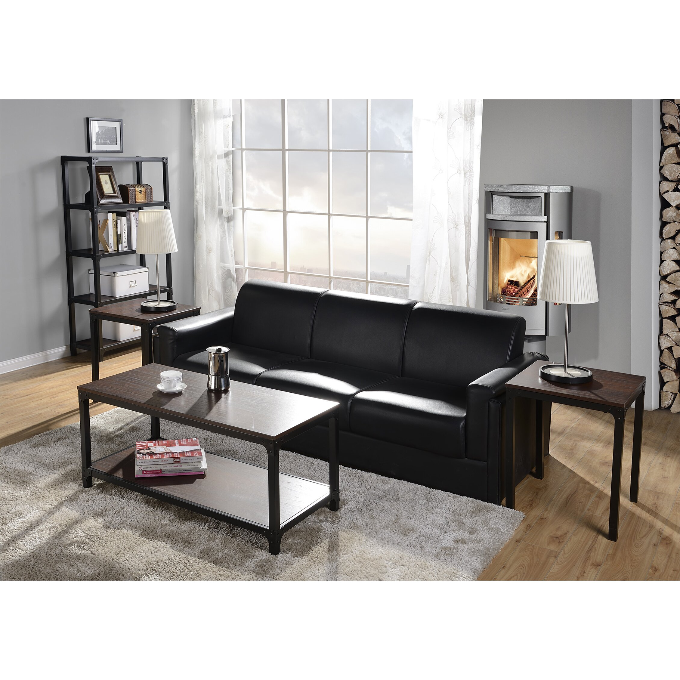 Coffee Table Set Of 3 Homestar 3 Piece Coffee Table Set Reviews Wayfair