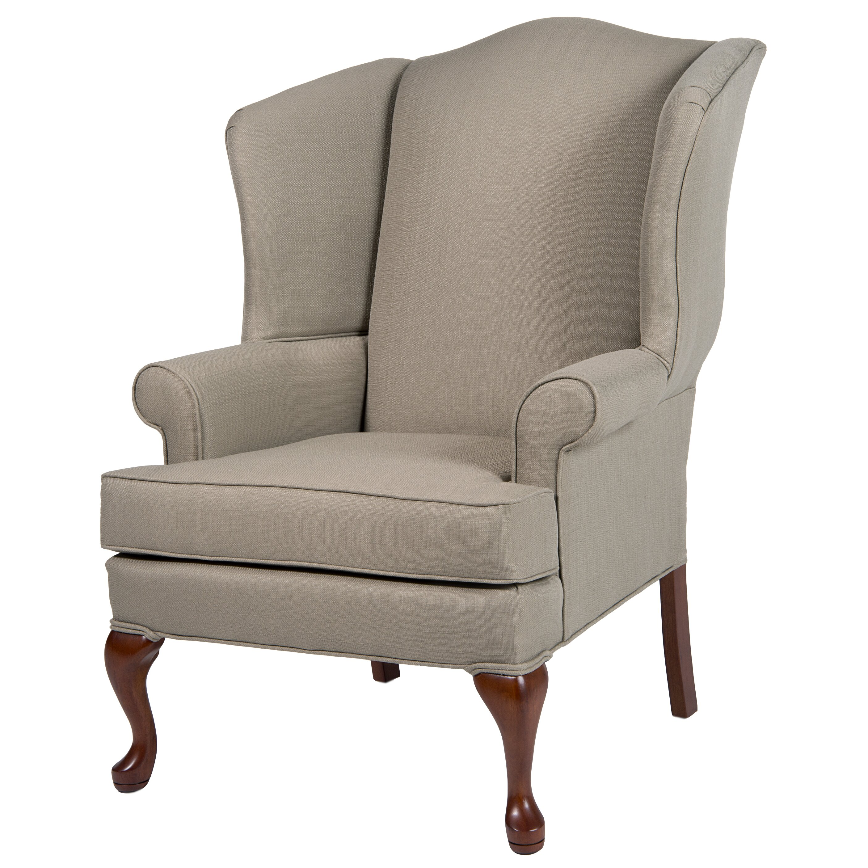 Wing chair with ottoman - Erin Wing Back Chair