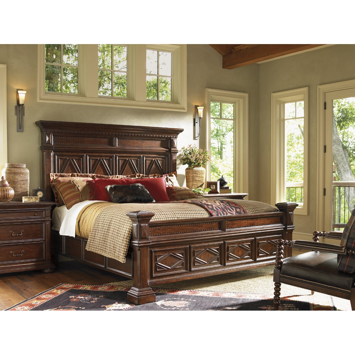 Lexington Furniture Bedroom Sets: Lexington Fieldale Lodge Panel Bed & Reviews