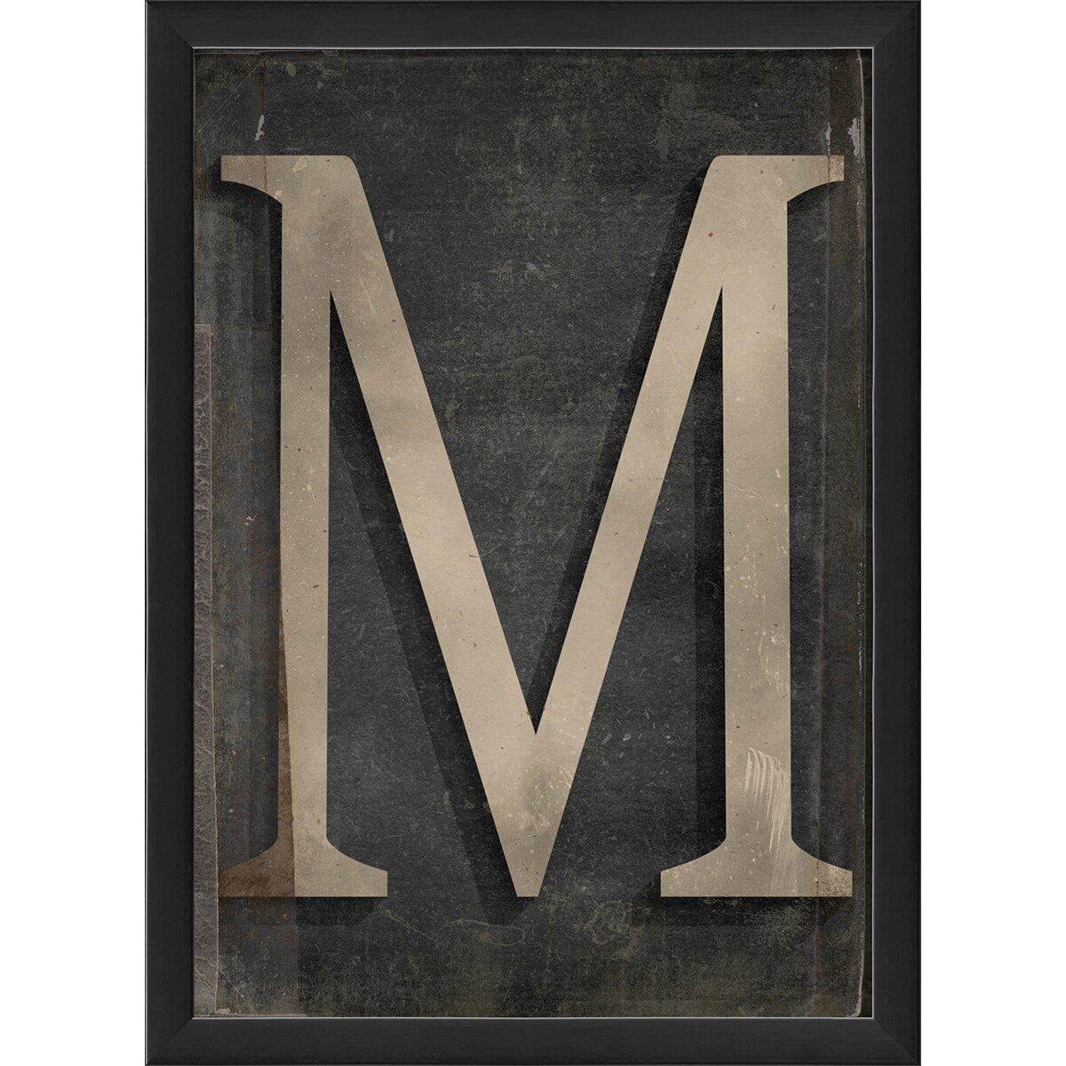 The Artwork Factory Letter M Framed Textual Art & Reviews