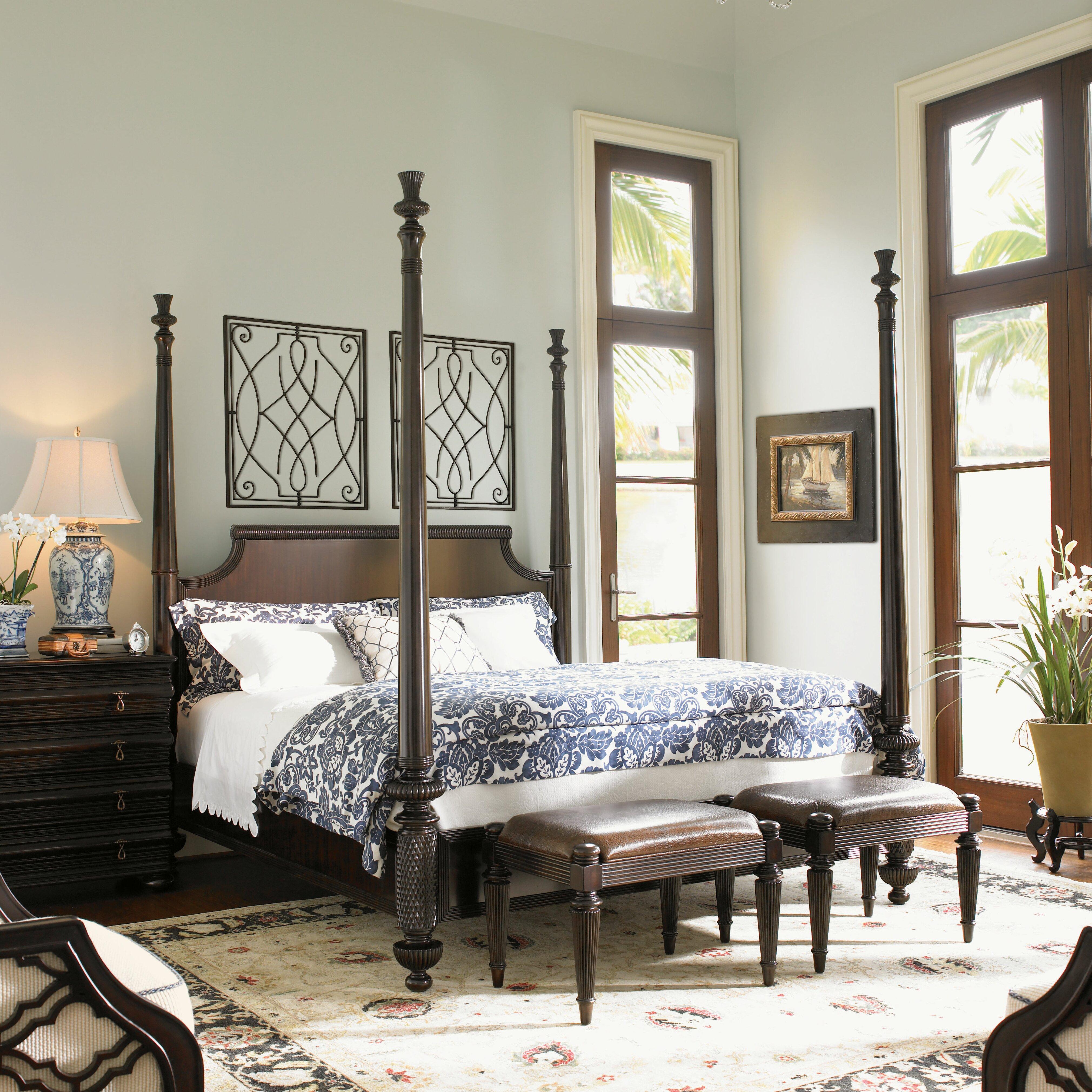 Tommy Bahama Home Royal Kahala Four Poster Bed & Reviews