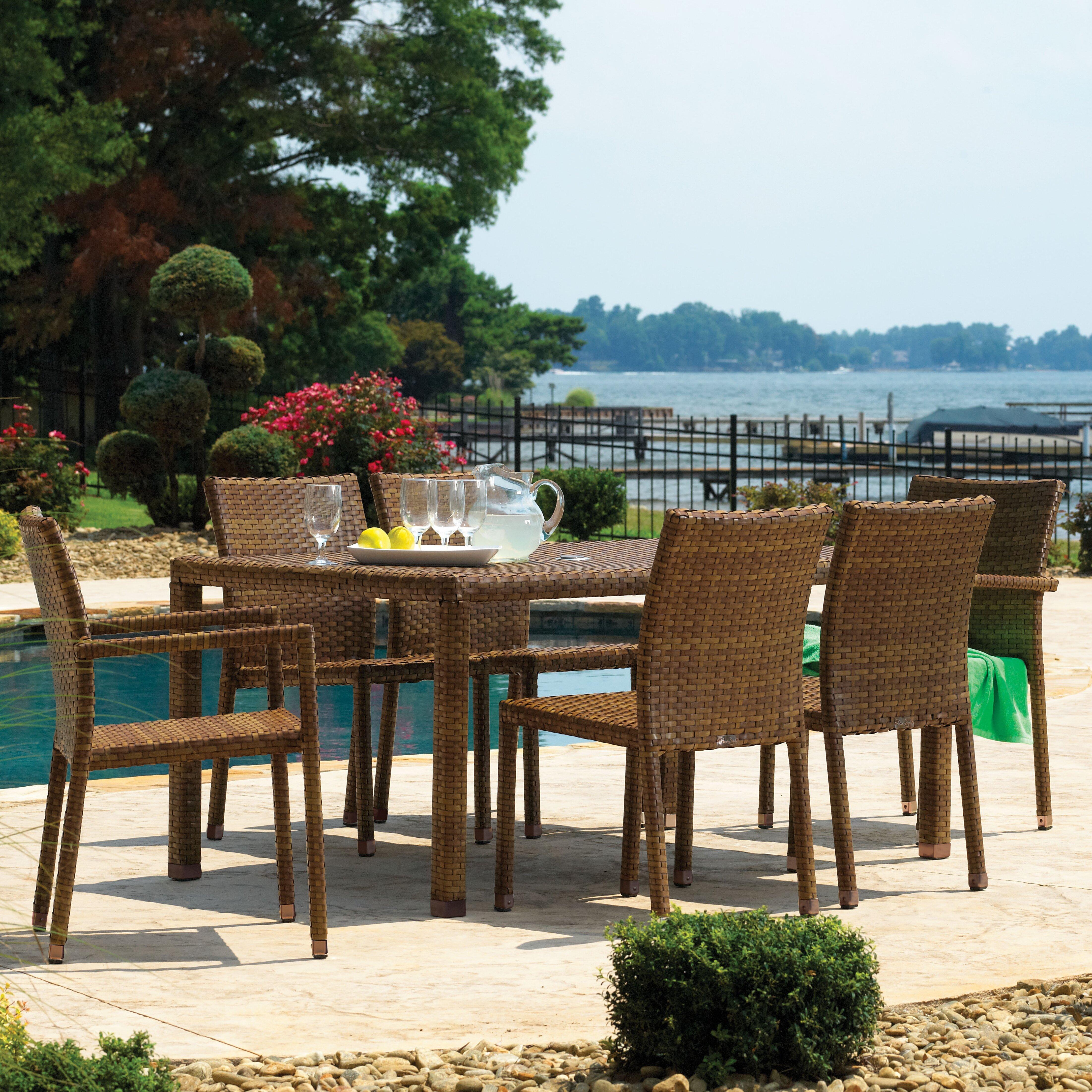 Panama Jack Bedroom Furniture Panama Jack St Barths 7 Piece Dining Set Reviews Wayfair