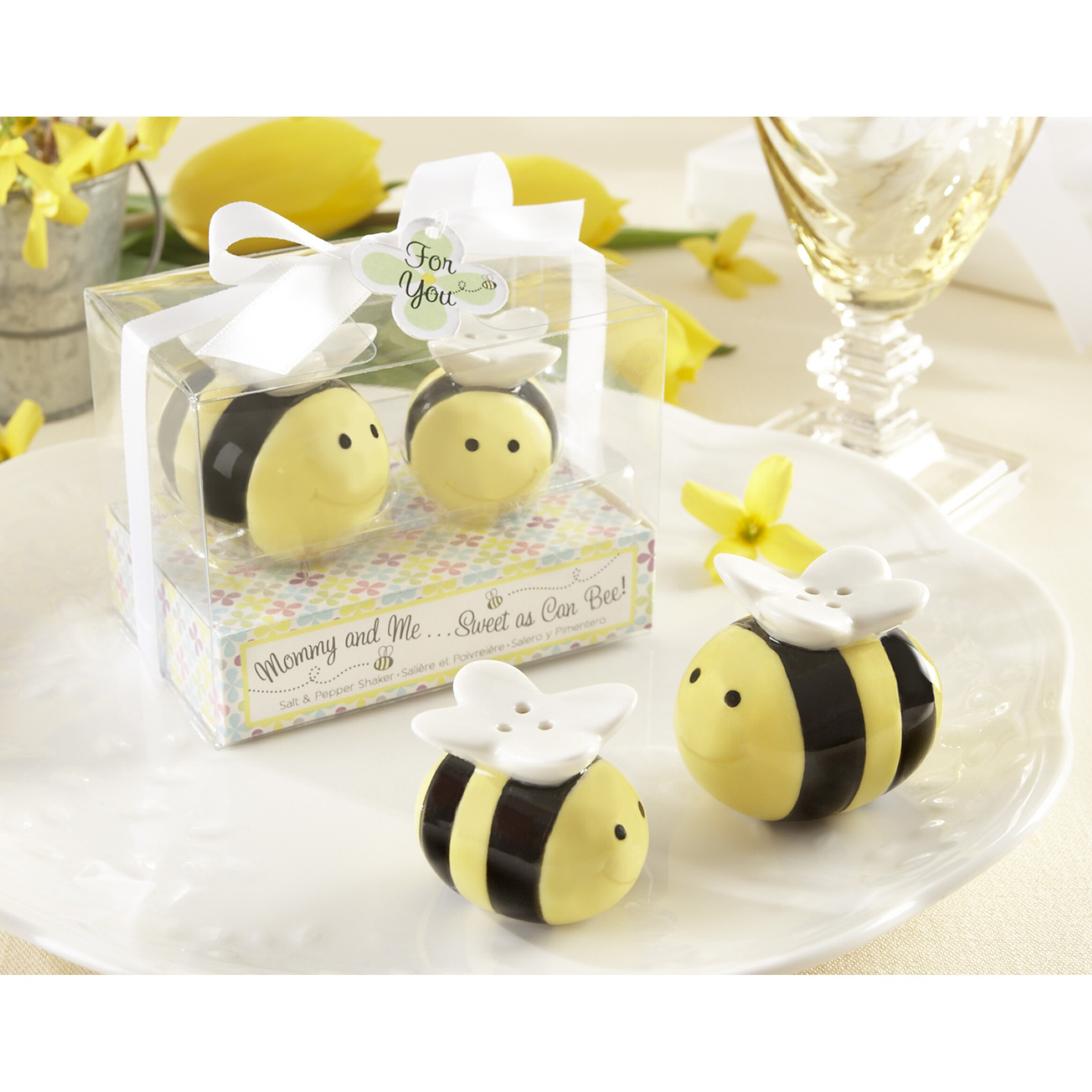 Kate Aspen Quot Mommy And Me Sweet As Can Bee Quot Ceramic Honeybee Salt And Pepper Shaker Amp Reviews