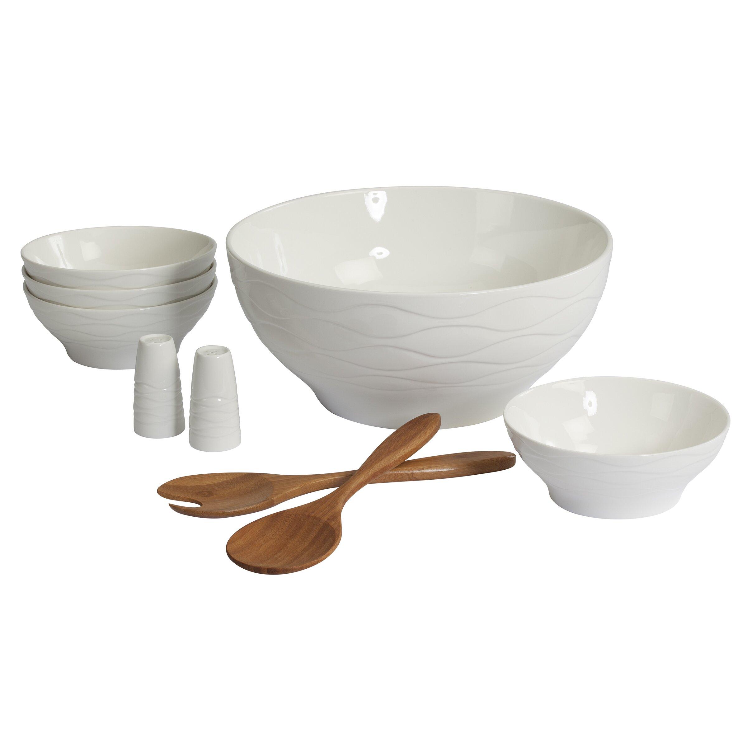 Creative Bath Wine and Dine 9 Piece Salad Serving Bowl Set ... - Creative Bath Wine and Dine 9 Piece Salad Serving Bowl Set