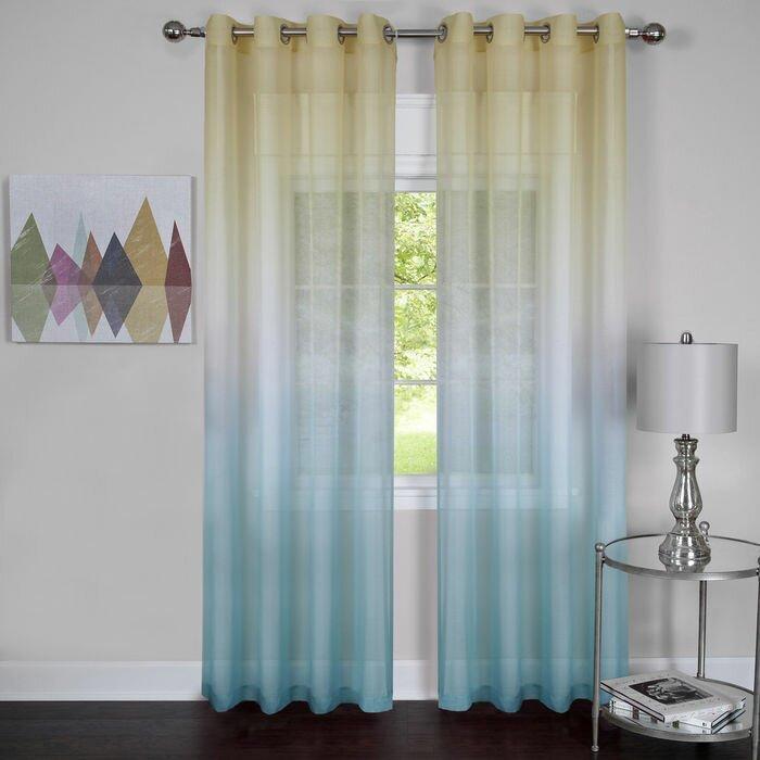Achim Importing Co Rainbow Sheer Curtain Panels Reviews Wayfair
