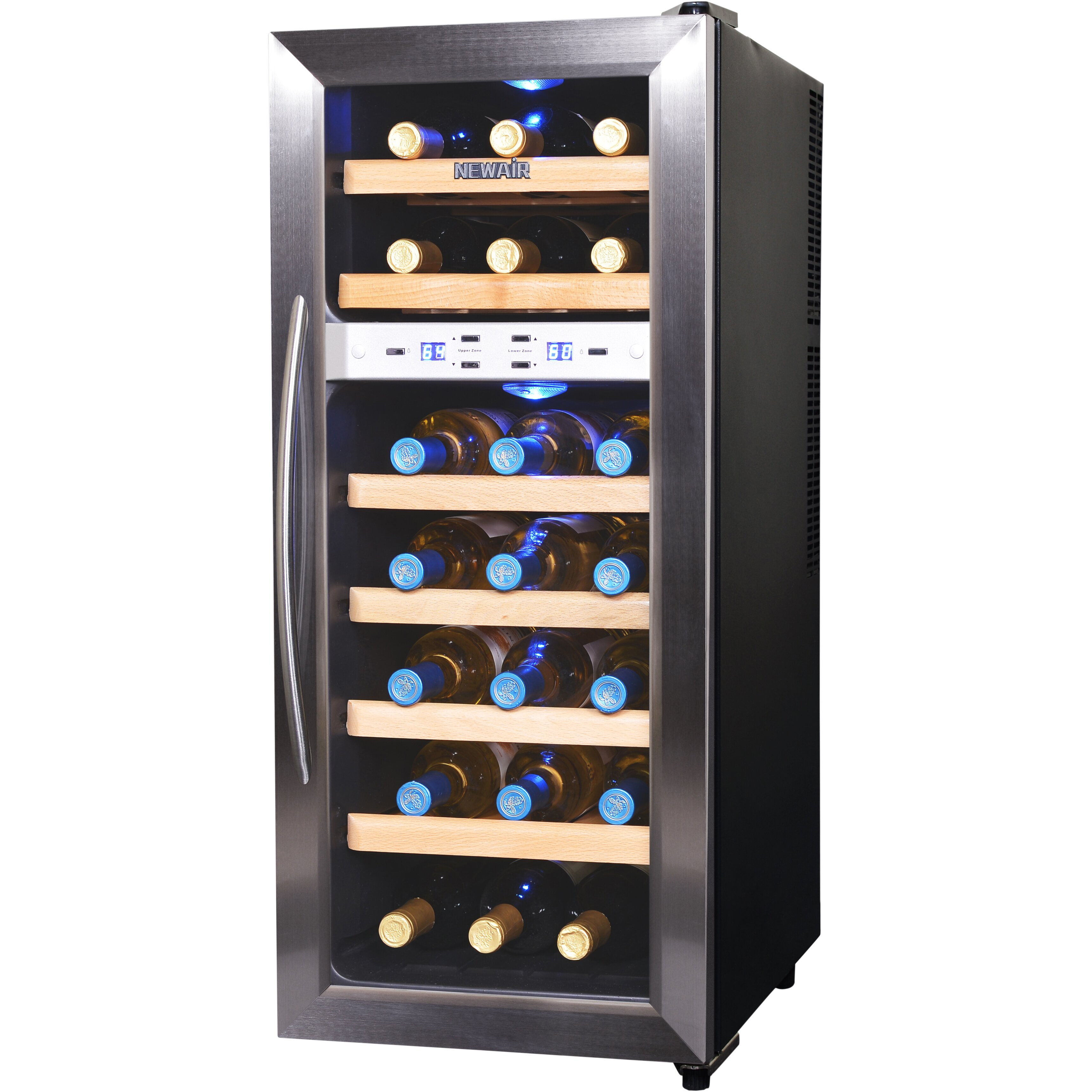 Cabinet With Wine Cooler Newair 21 Bottle Dual Zone Freestanding Wine Refrigerator