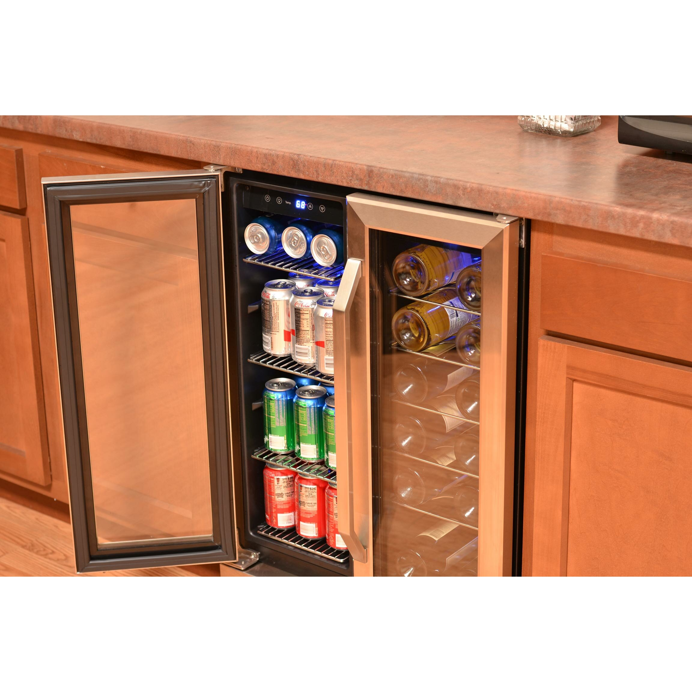 Newair 18 Bottle Dual Zone Convertible Wine Cooler