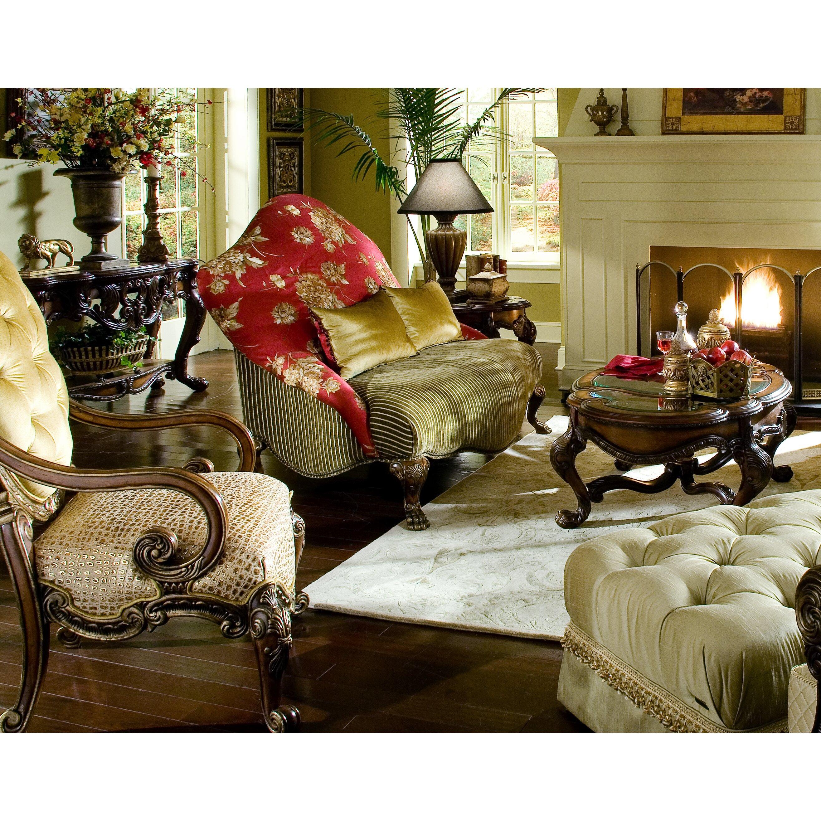 Michael Amini Living Room Furniture Michael Amini Chateau Beauvais Coffee Table Reviews Wayfair