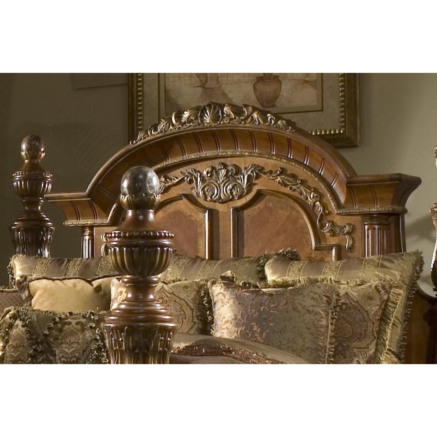Michael Amini Living Room Sets Michael Amini Villa Valencia Canopy Customizable Bedroom Set