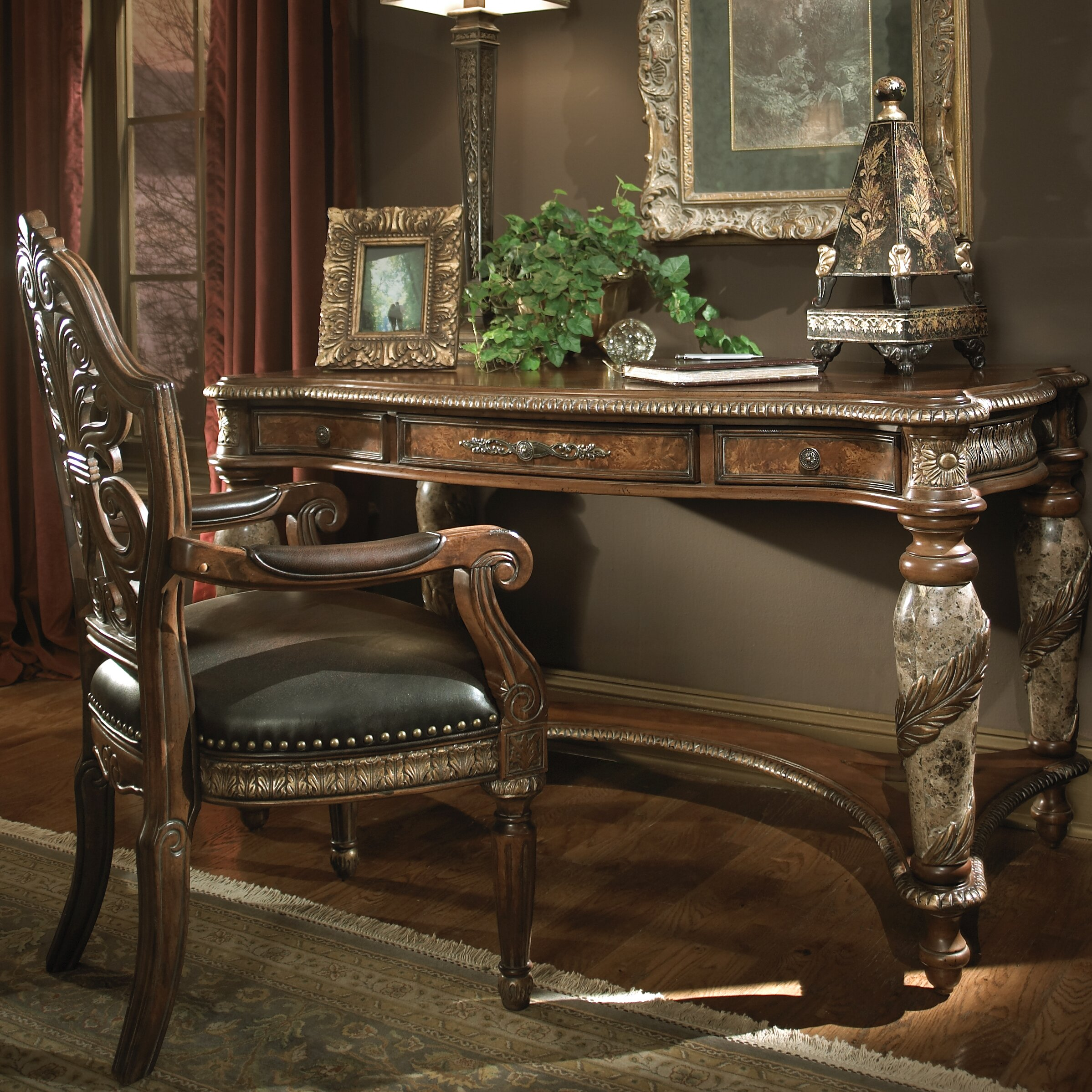 Michael Amini Living Room Furniture Michael Amini Villa Valencia Writing Desk Reviews Wayfair
