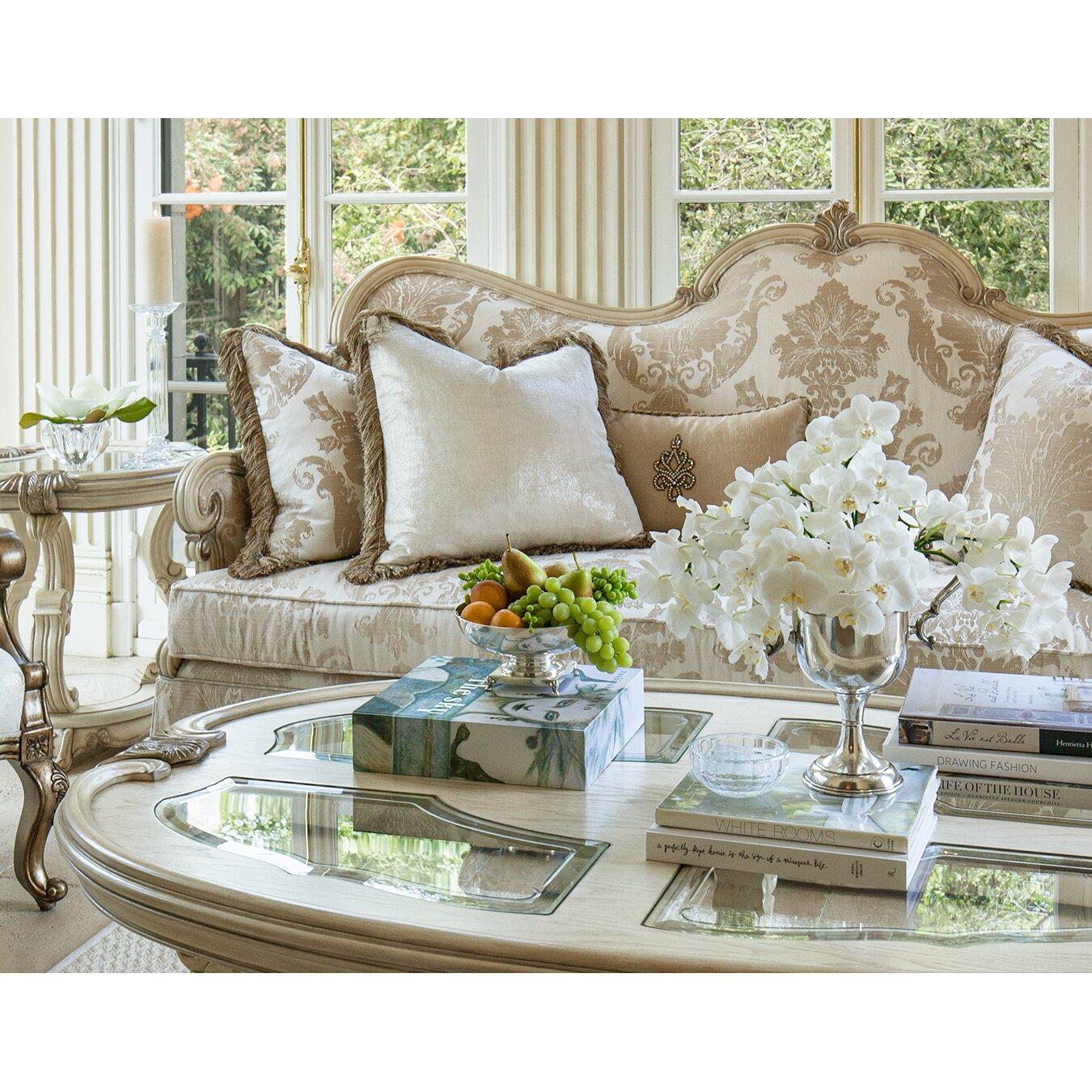 Michael Amini Living Room Set Michael Amini Platine De Royale Sofa Reviews Wayfair