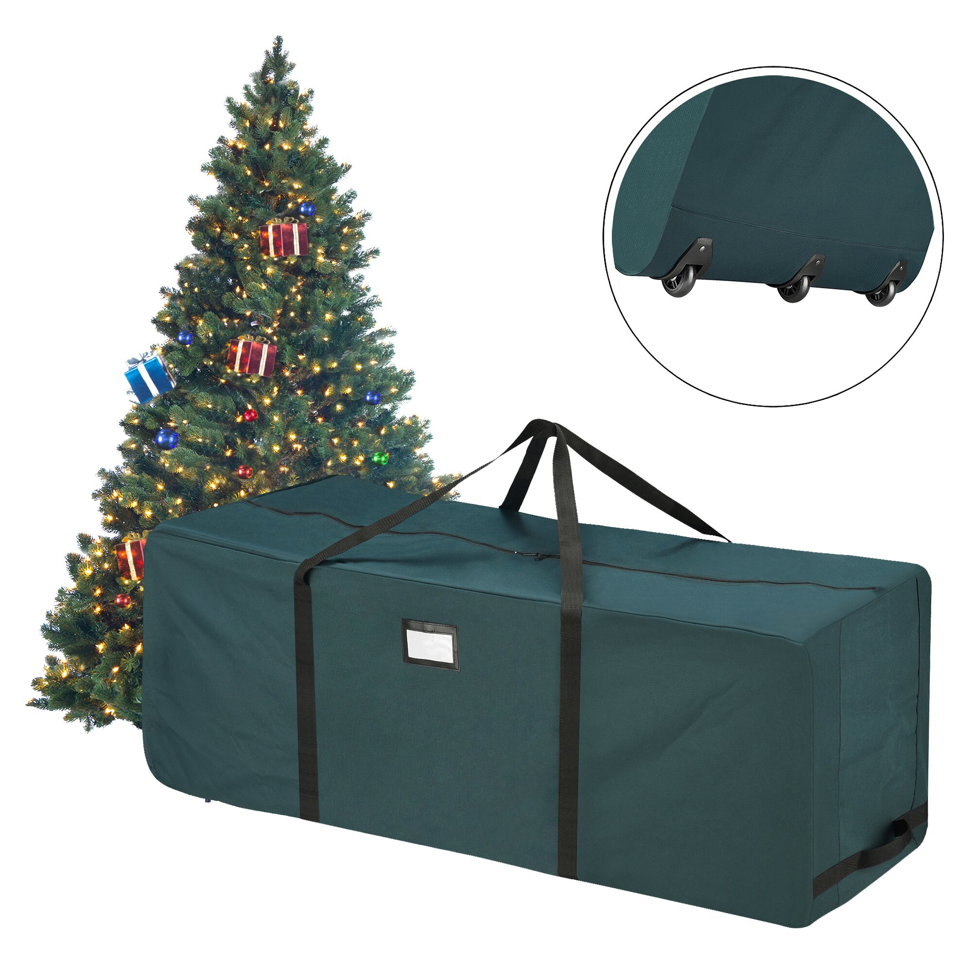 Storage bags for christmas trees - Elf Stor Sellersburg Rolling Duffle Bag Christmas Tree Storage Bag