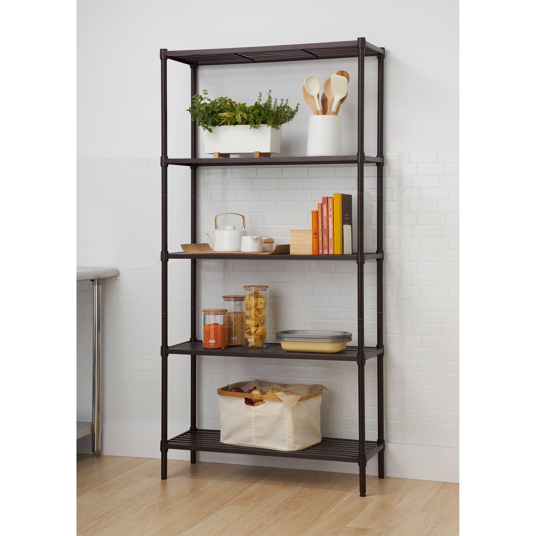 Trinity Slat 72 Quot Five Shelf Shelving Unit Amp Reviews Wayfair