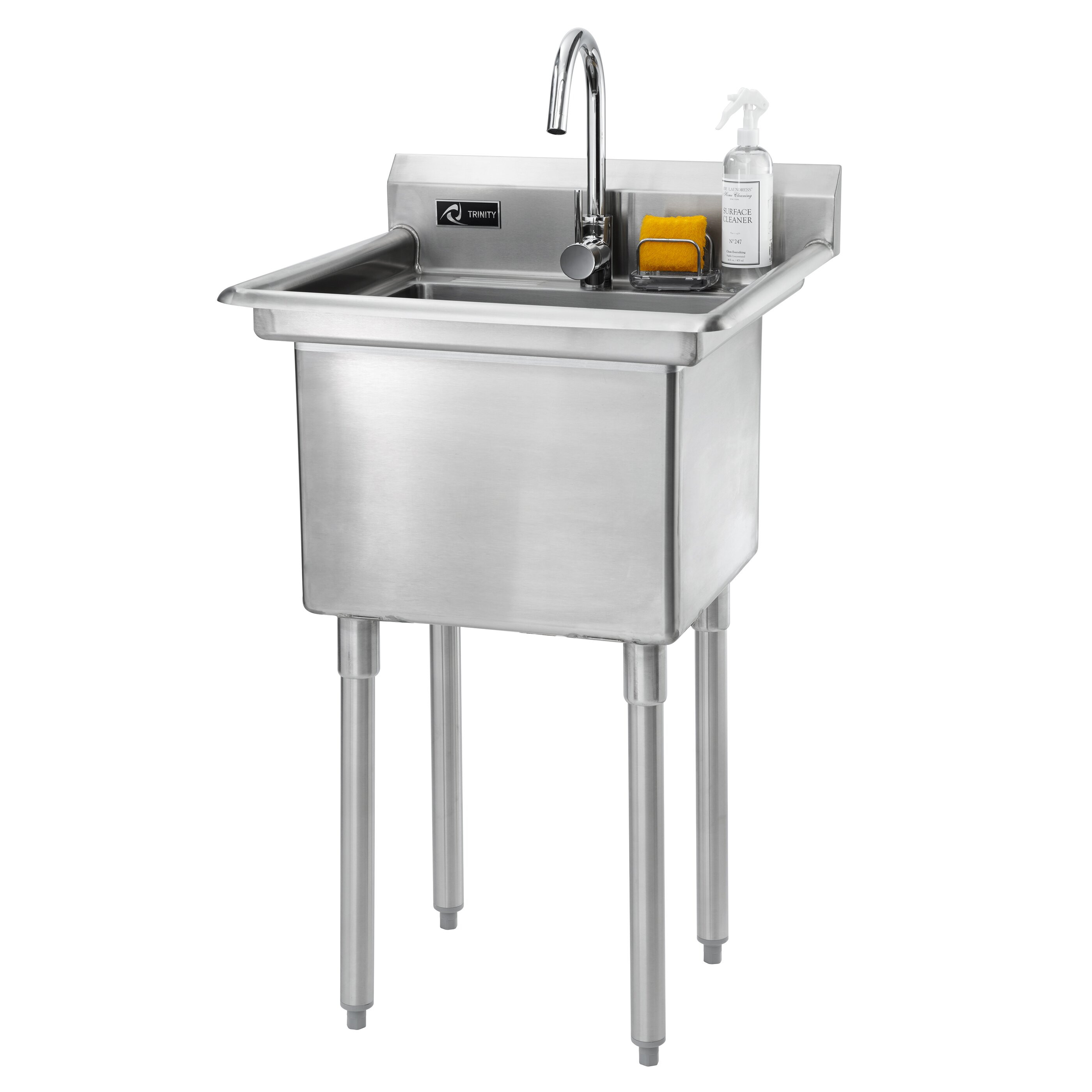 Trinity 23 Quot X 23 Quot Single Stainless Steel Utility Sink With