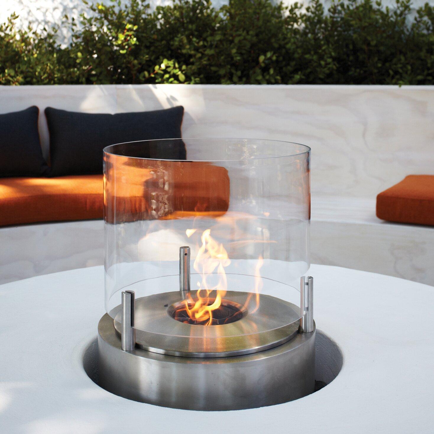EcoSmart Fire Cyl Bio-Ethanol Tabletop Fireplace - EcoSmart Fire Cyl Bio-Ethanol Tabletop Fireplace Wayfair
