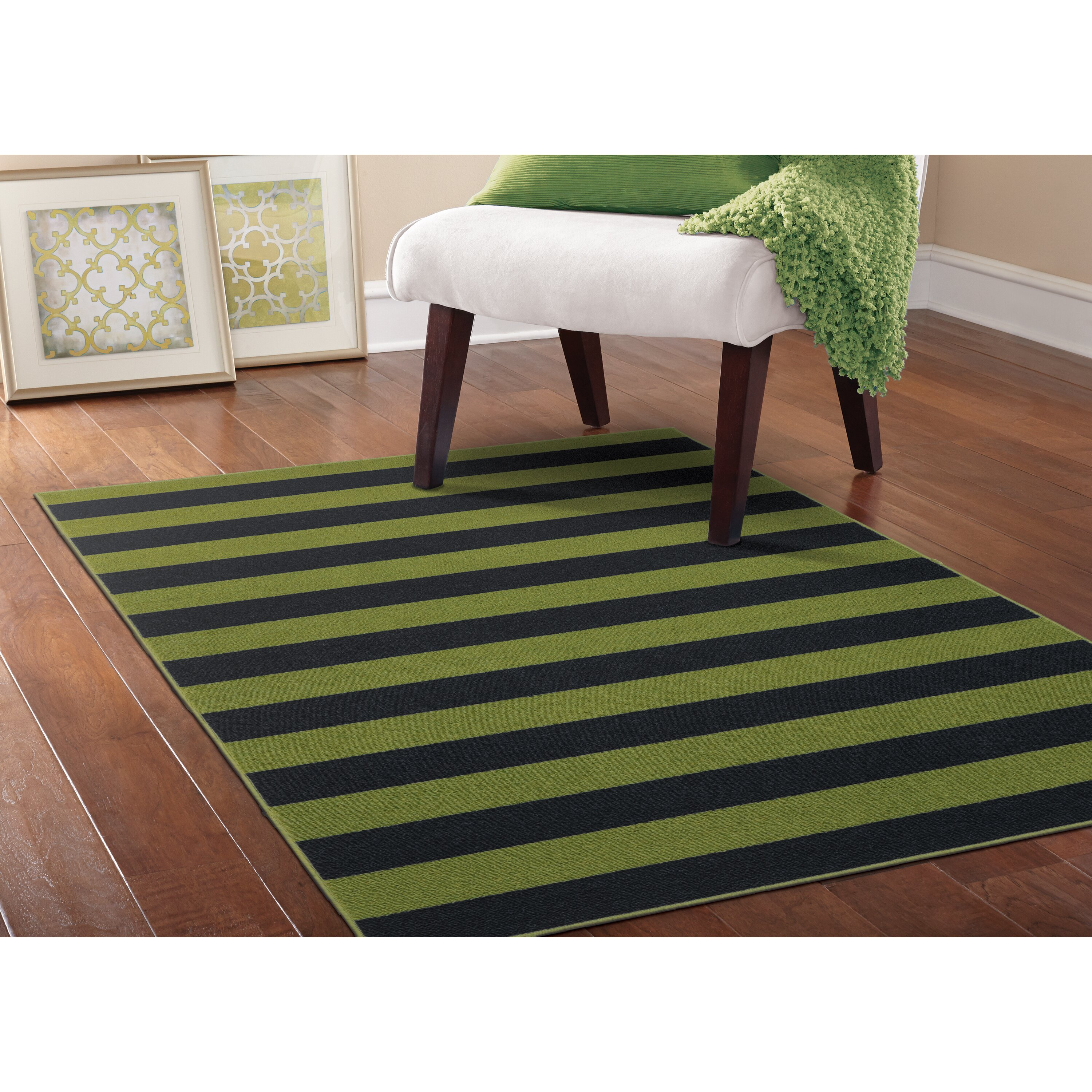Garland Rug Rugby Sage Navy Area Rug: home furniture and rugs garland