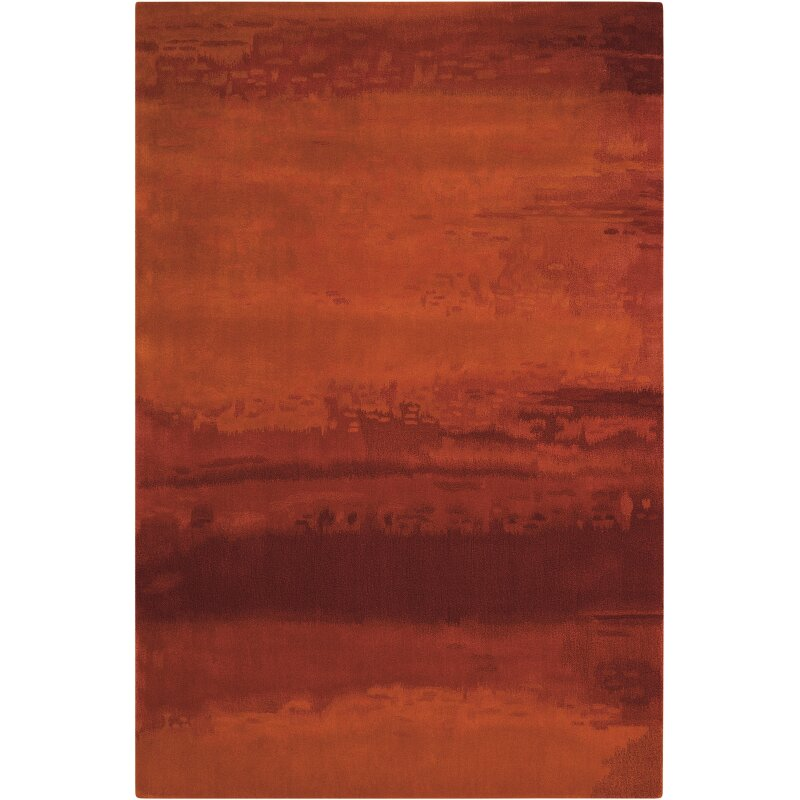 calvin klein home rug collection luster wash russet tones rust area rug