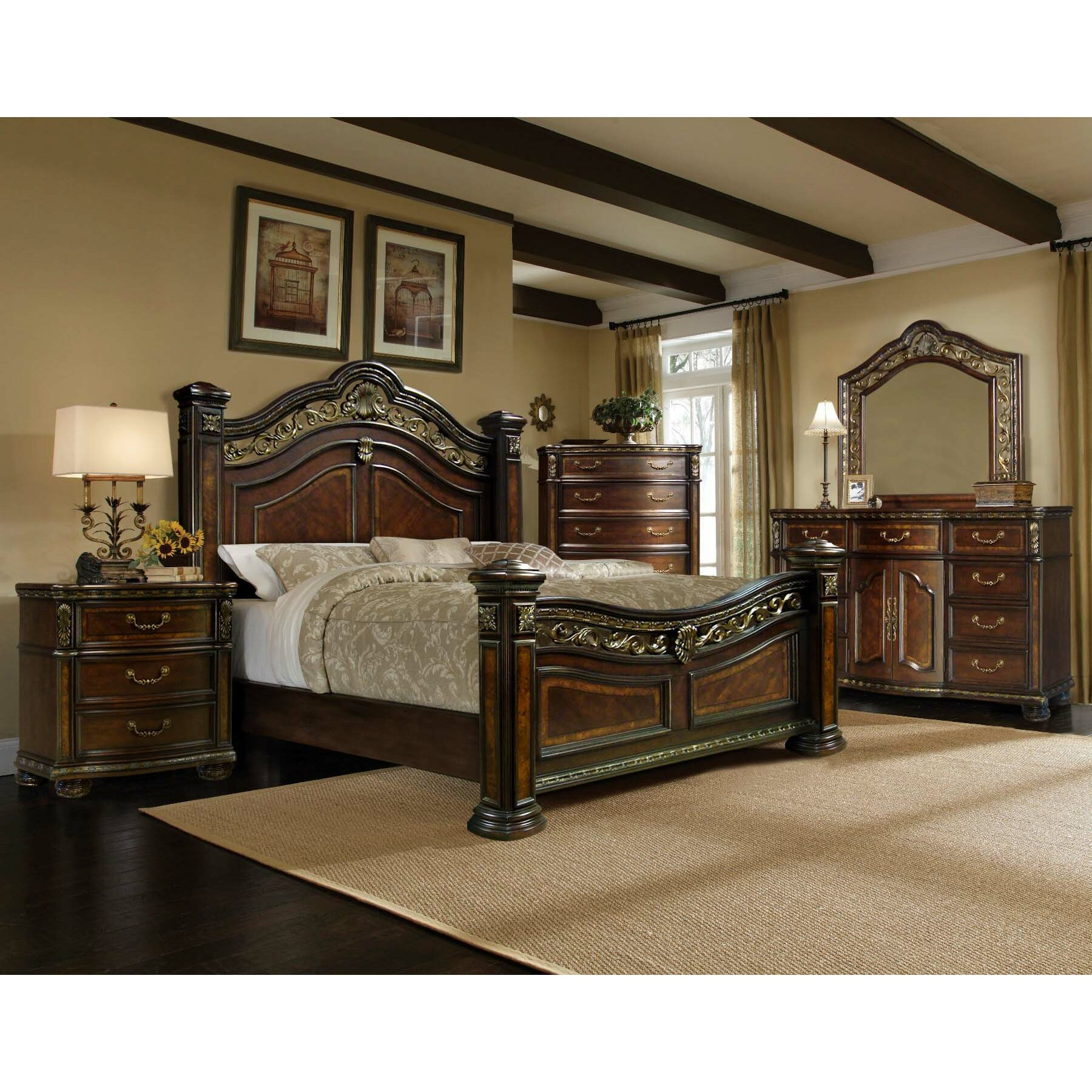 Old World Bedroom Furniture Ultimate Accents Old World 5 Pc Bedroom Set Wayfair