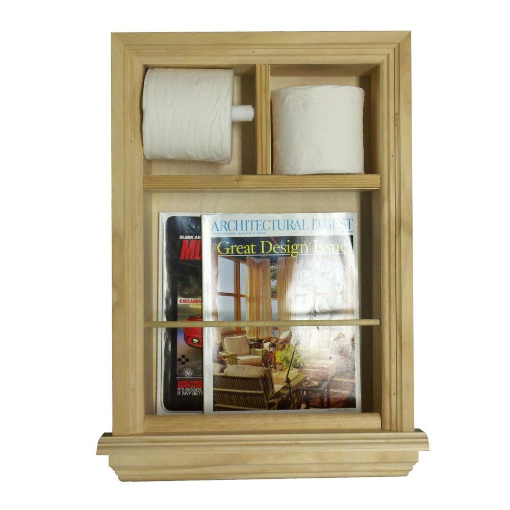 WG Wood Products Recessed Magazine Rack And Toilet Paper Holder & Reviews