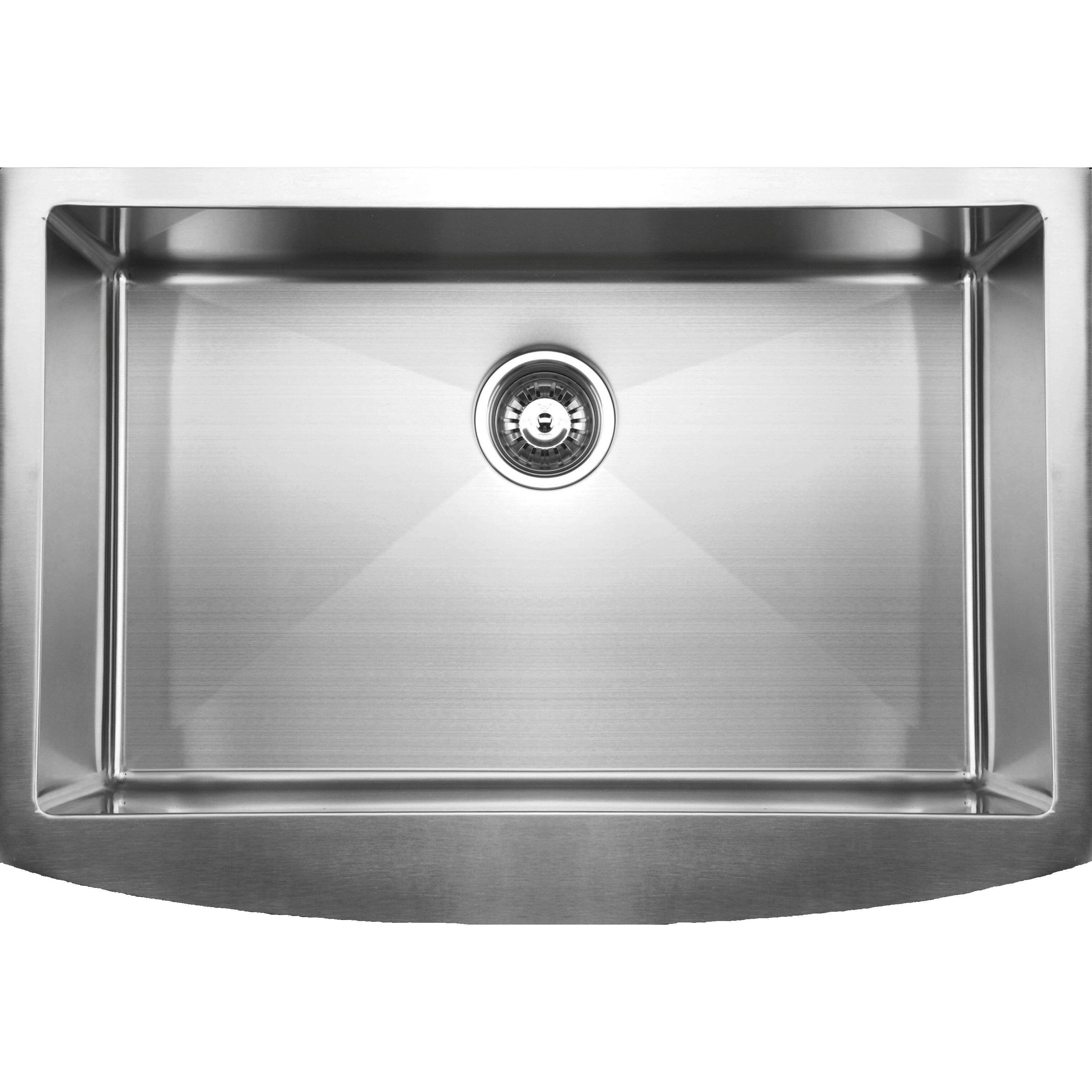 White Kitchen Sink Undermount Ukinox 33 X 2225 Curved Apron Front Single Bowl Undermount