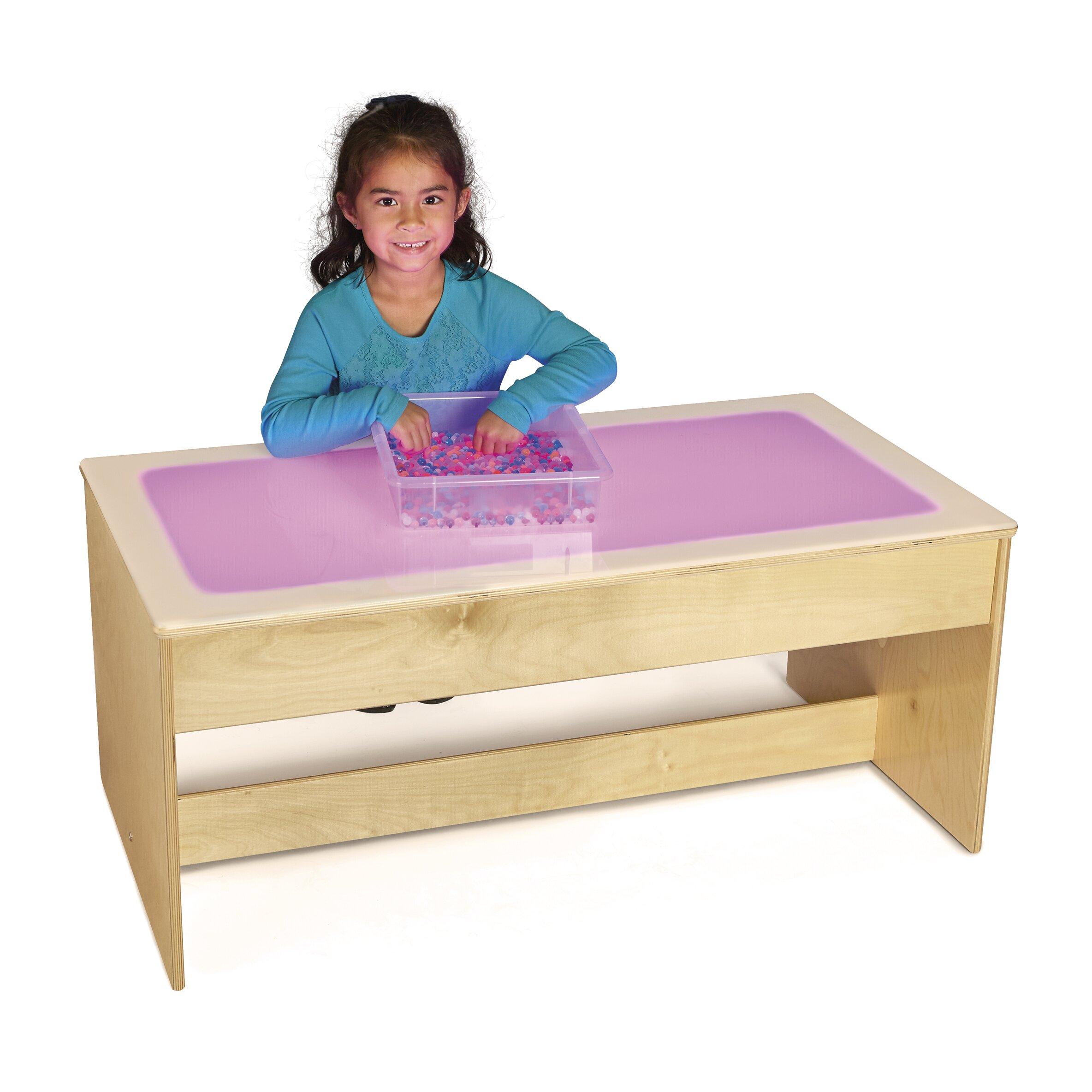jonti craft kids rectangular large light table wayfair jonti craft kids rectangular large light table