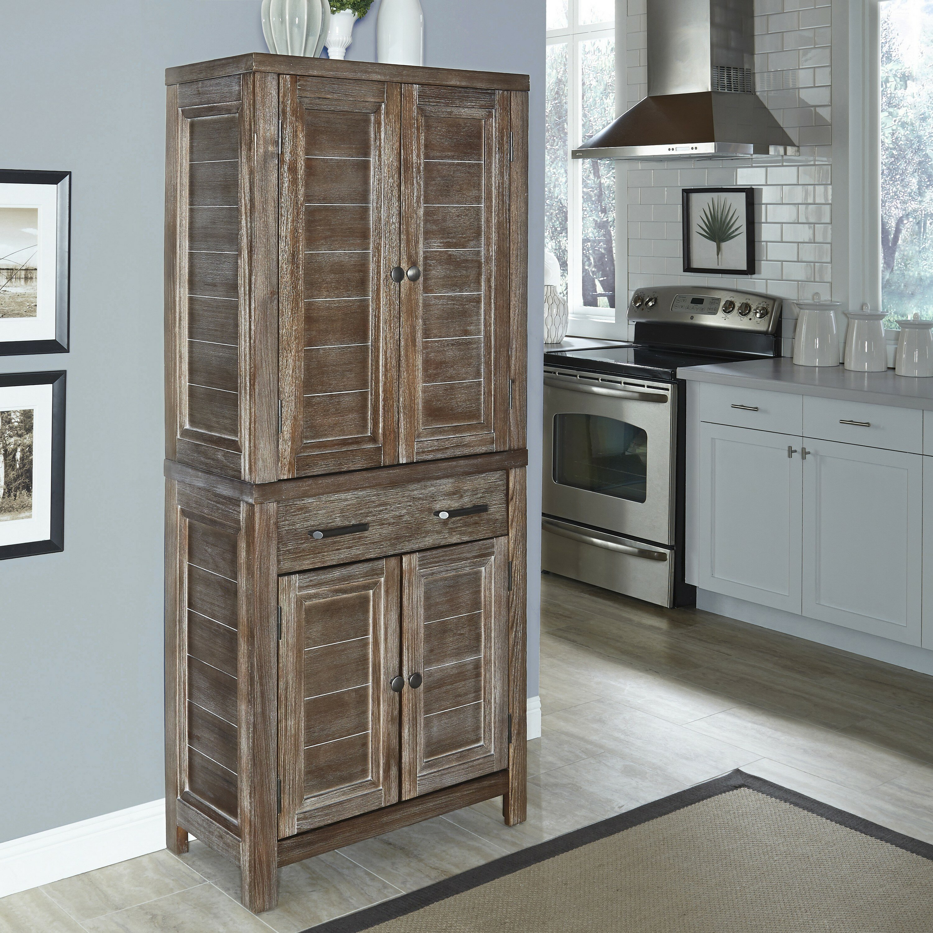 Kitchen Pantry Home Styles Barnside Kitchen Pantry Reviews Wayfair