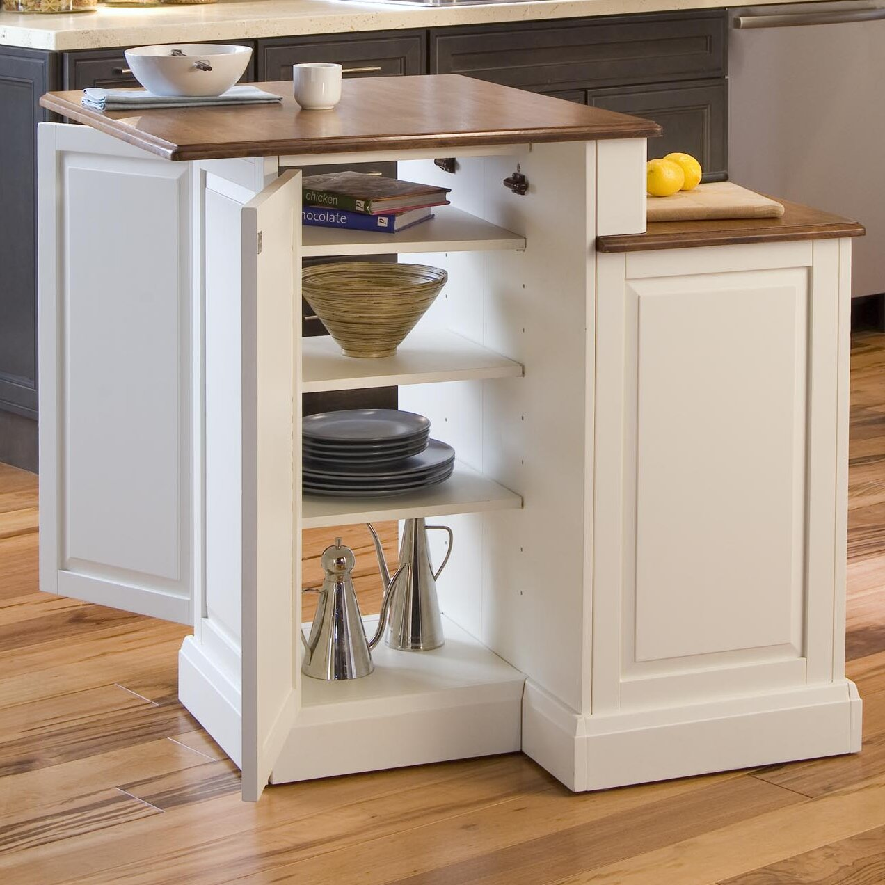 beautiful Wayfair Kitchen Island #5: Home Styles Woodbridge Kitchen Island with Wooden Top