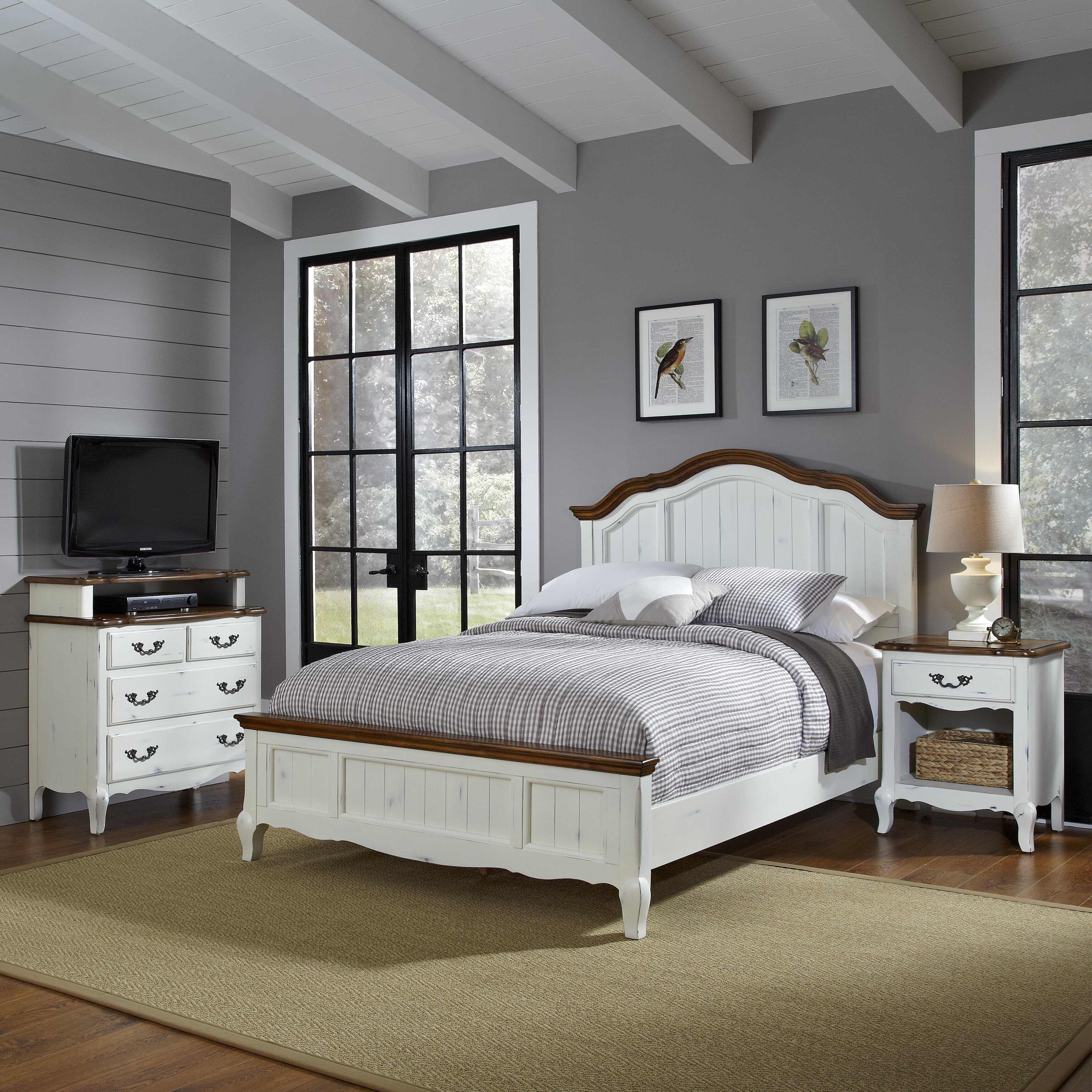 home styles french countryside panel customizable bedroom set