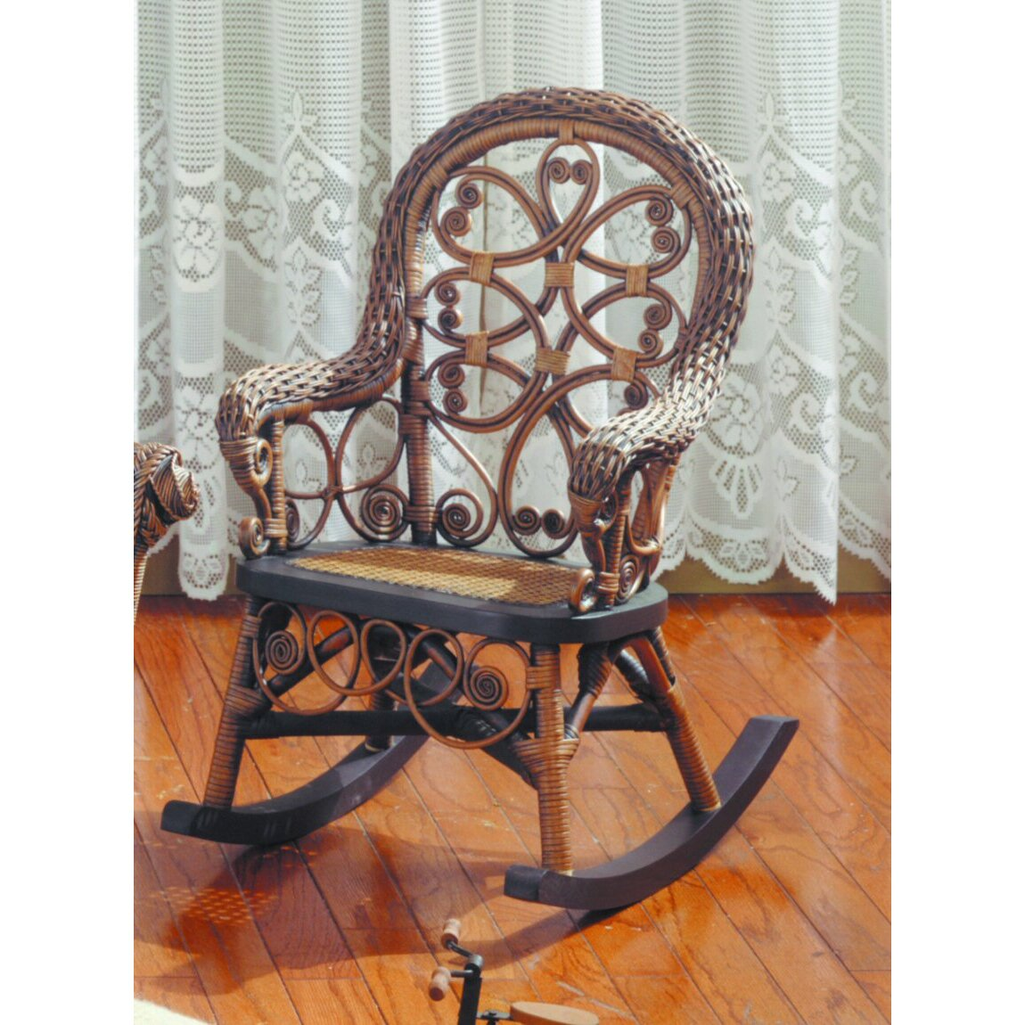 Victorian rocking chair - Yesteryear Wicker Victorian Child S Cotton Rocking Chair