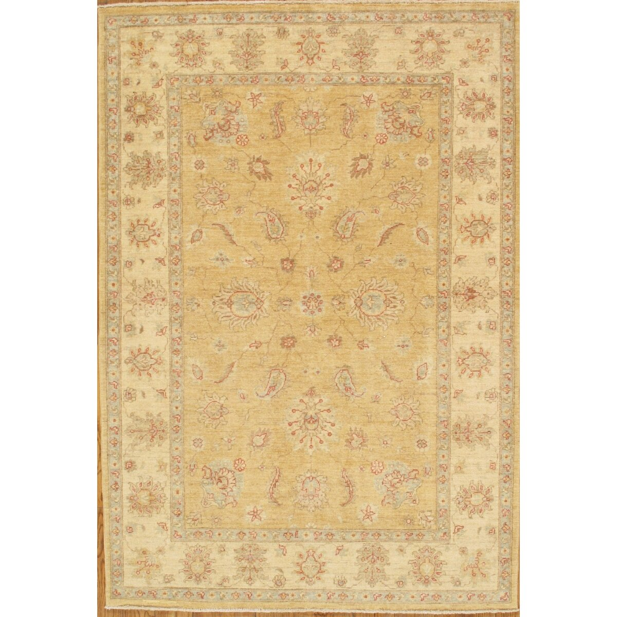 Hand Knotted Persian Style Wool Pile Area Rug: Pasargad Sultanabad Tribal Persian Style Hand-Knotted Wool