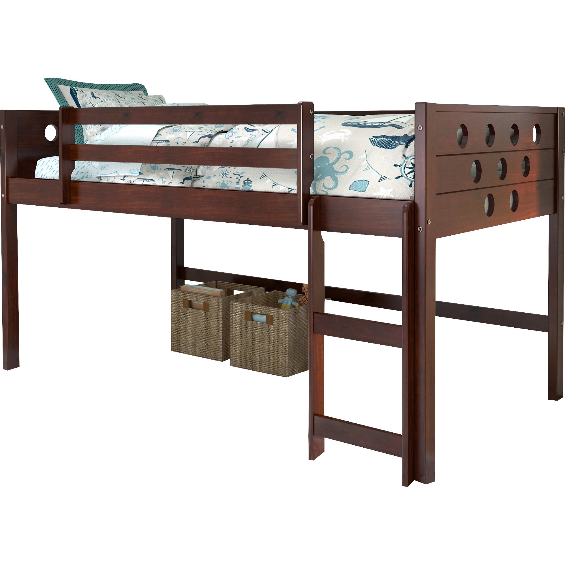 Donco Kids Twin Circles Low Loft Bed