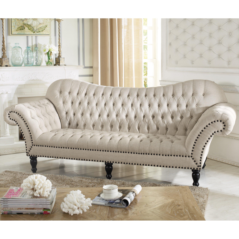 Victorian Couch: Wholesale Interiors Baxton Studio Classic Victorian Sofa
