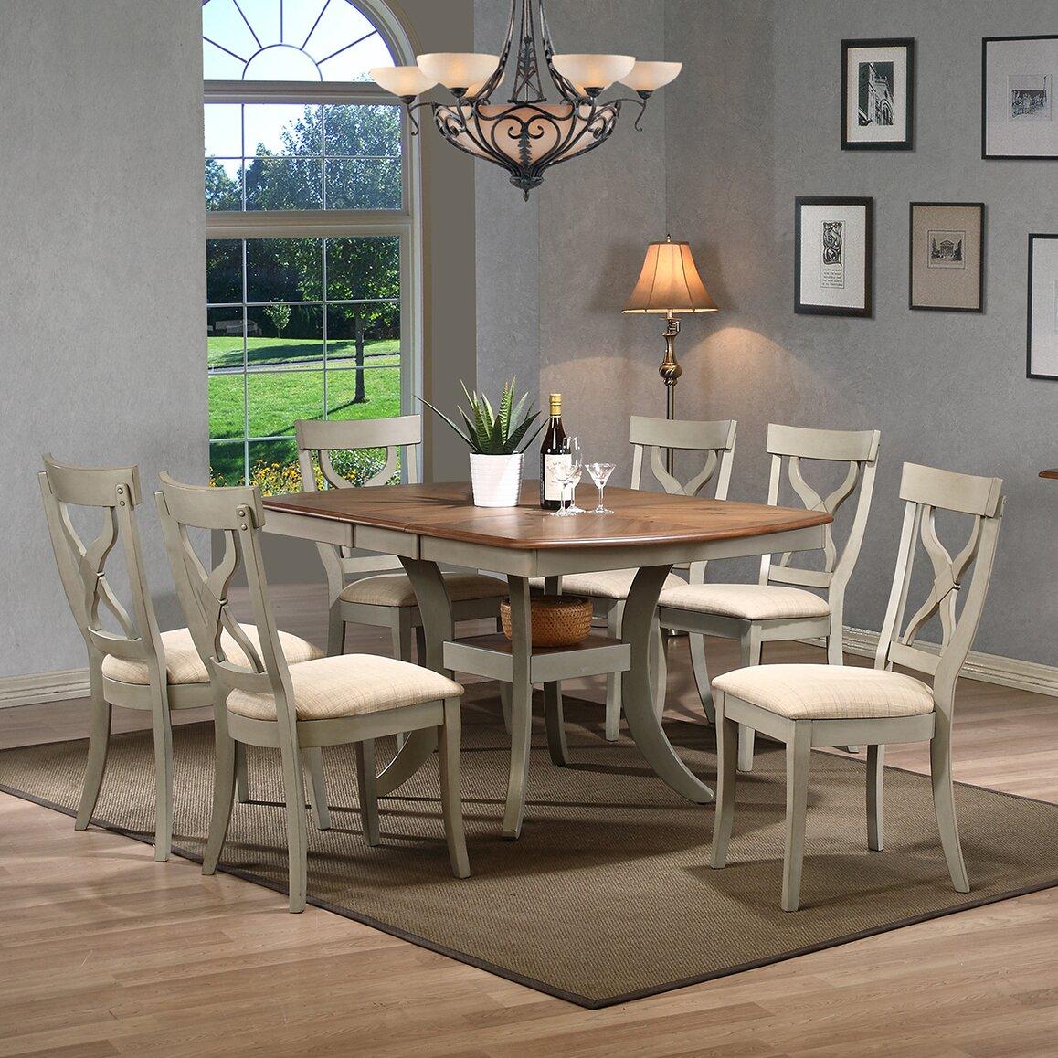 wholesale interiors baxton studio balmoral 7 piece dining