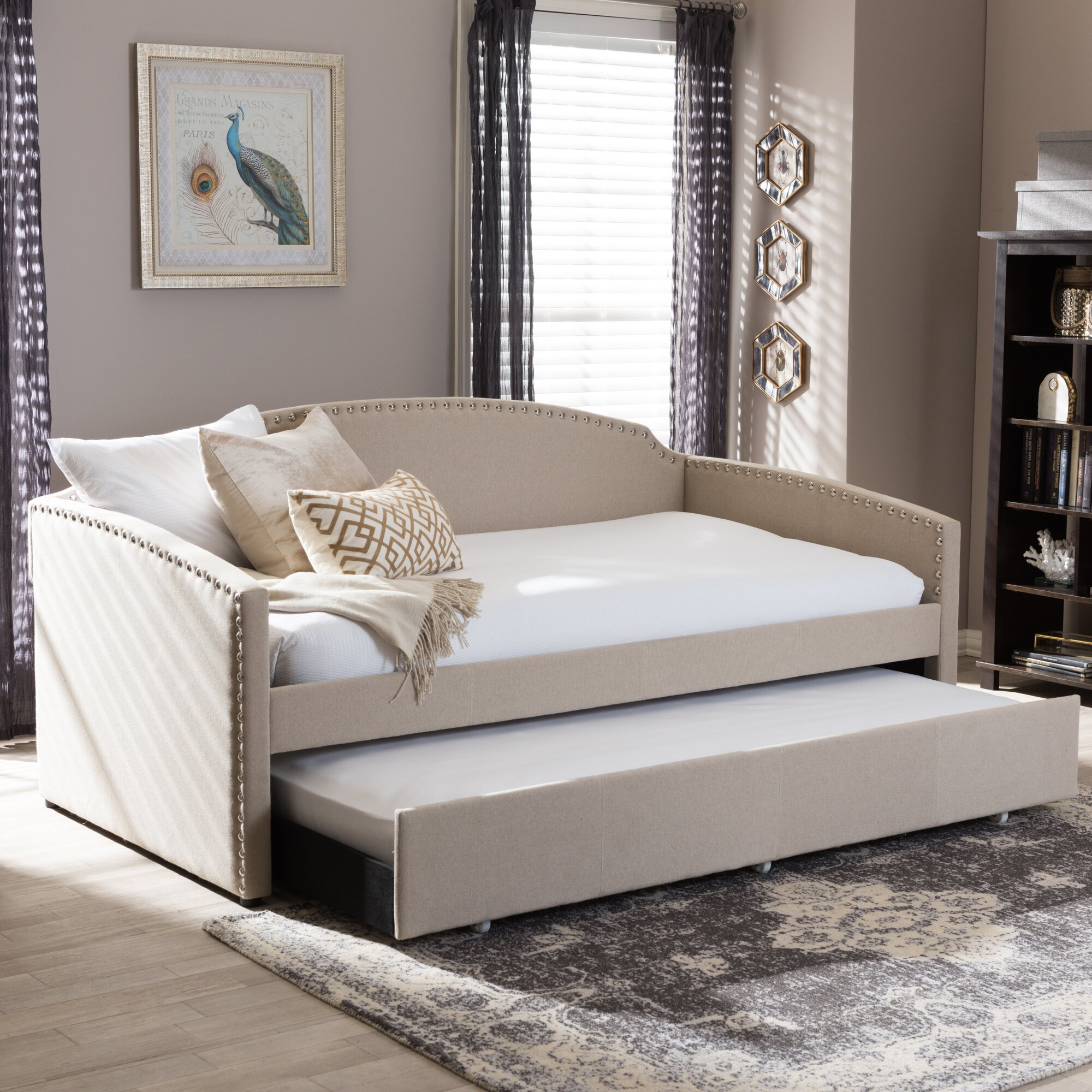Wholesale Interiors Baxton Studio Daybed With Trundle