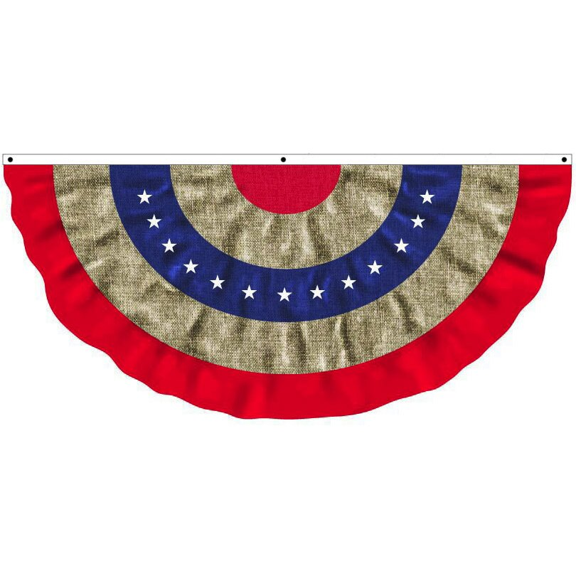 Evergreen Flag Garden Patriotic Bunting Pleated Flag Reviews
