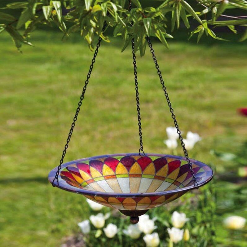 Evergreen Flag Garden Tiffany Hanging Bird Bath Reviews Wayfair