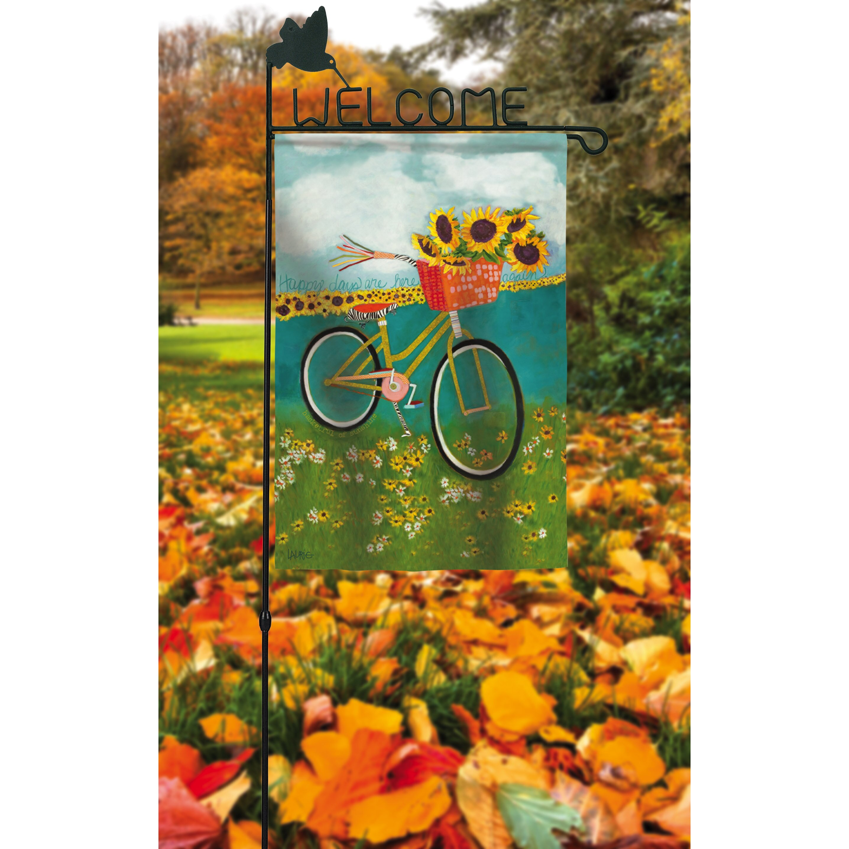 Evergreen Flag Garden Welcome Garden Flagpole Reviews Wayfair