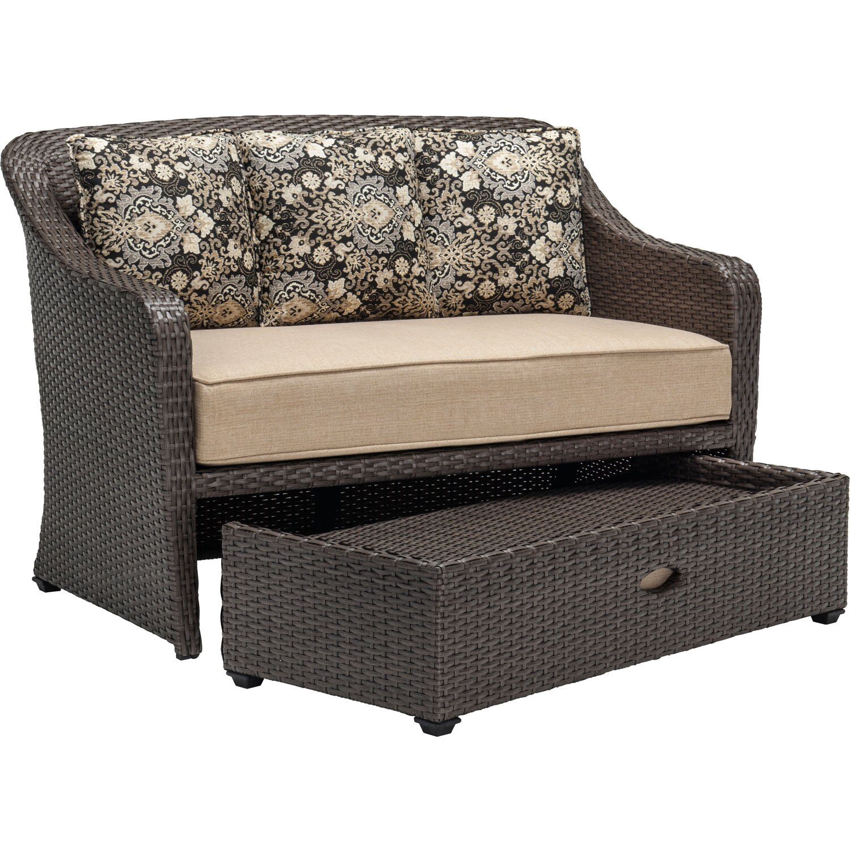Hanover Langdon Hills 2 Piece Lounge Chair Amp Ottoman Set