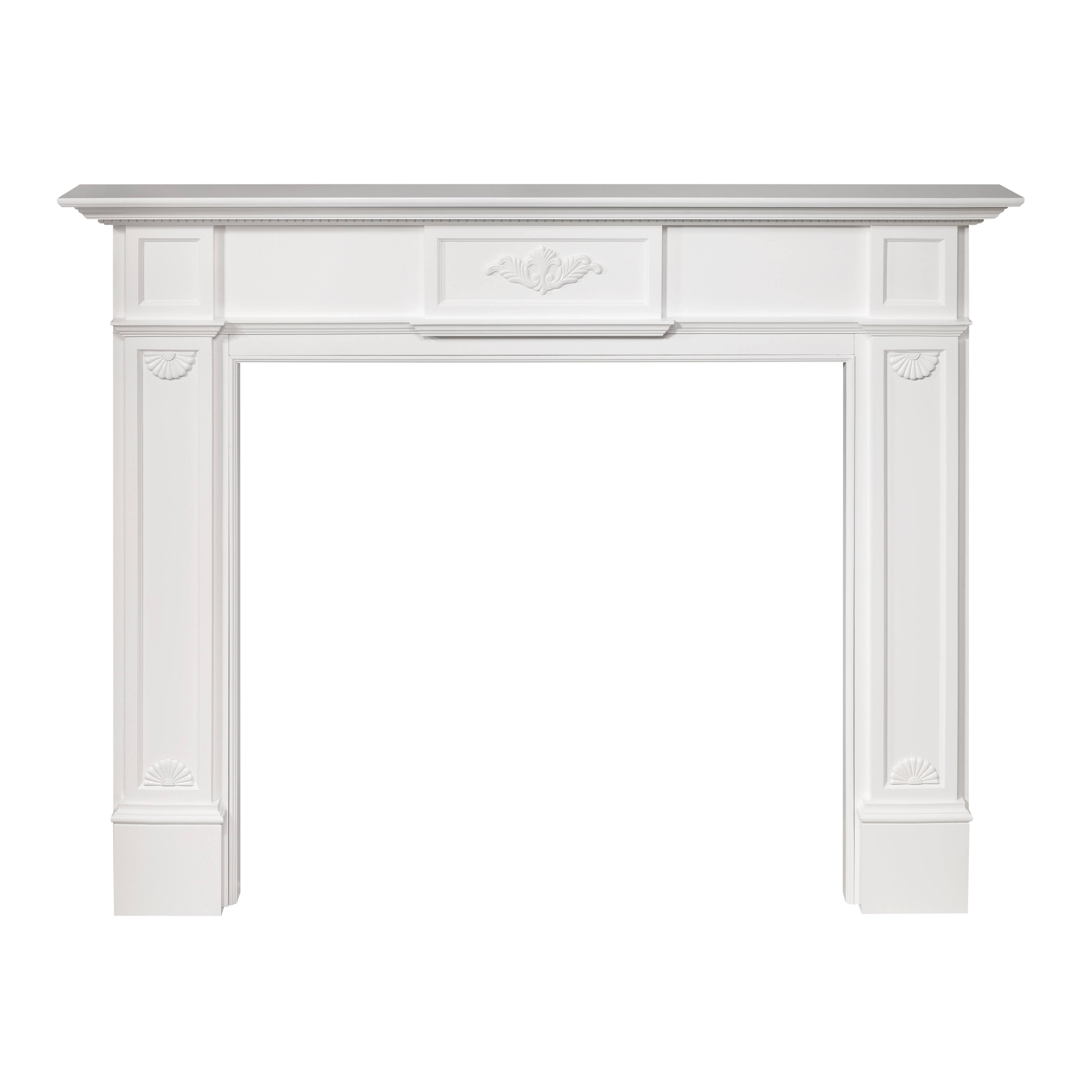 "Pearl Mantels Avondale Fireplace Surround: Pearl Mantels 56"" Monticello Fireplace Mantel Surround"