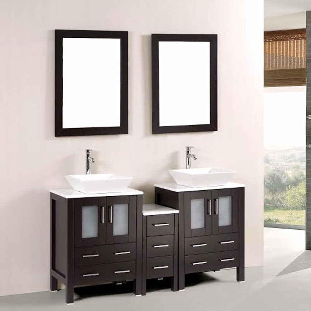 Kokols 60 Quot Double Bathroom Vanity Set With Mirror