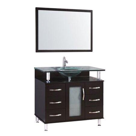 """kokols 32"""" single bathroom vanity set with mirror & reviews   wayfair"""
