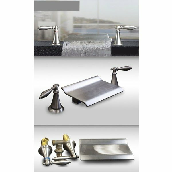 Kokols Double Handle Roman Waterfall Bath Tub Faucet Trim Lever Reviews Wayfair