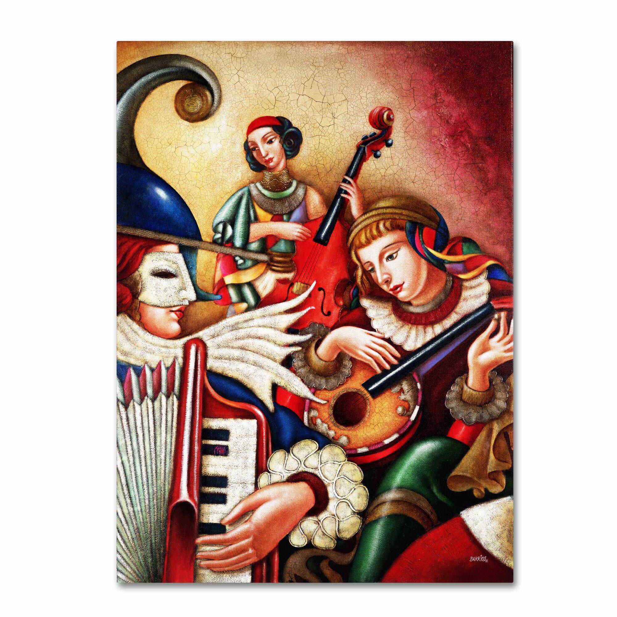Trademark Art Quot Inspiriacion Quot By Edgar Barrios Painting