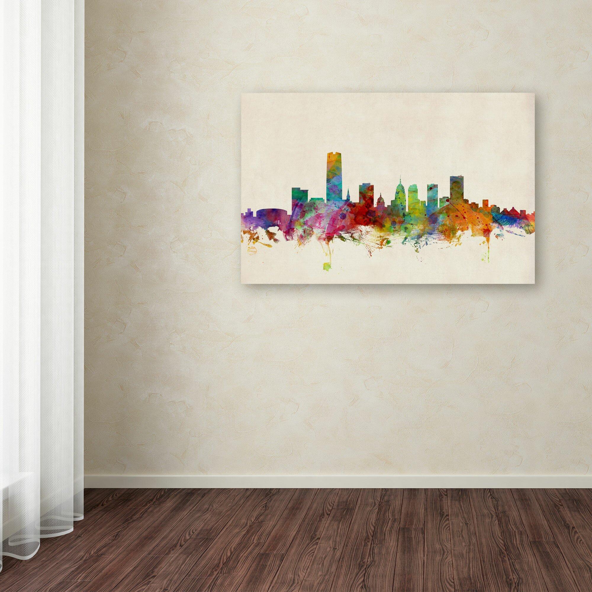 Garage door repair oklahoma city - Trademark Fine Art Oklahoma City Skyline By Michael Tompsett Graphic Art
